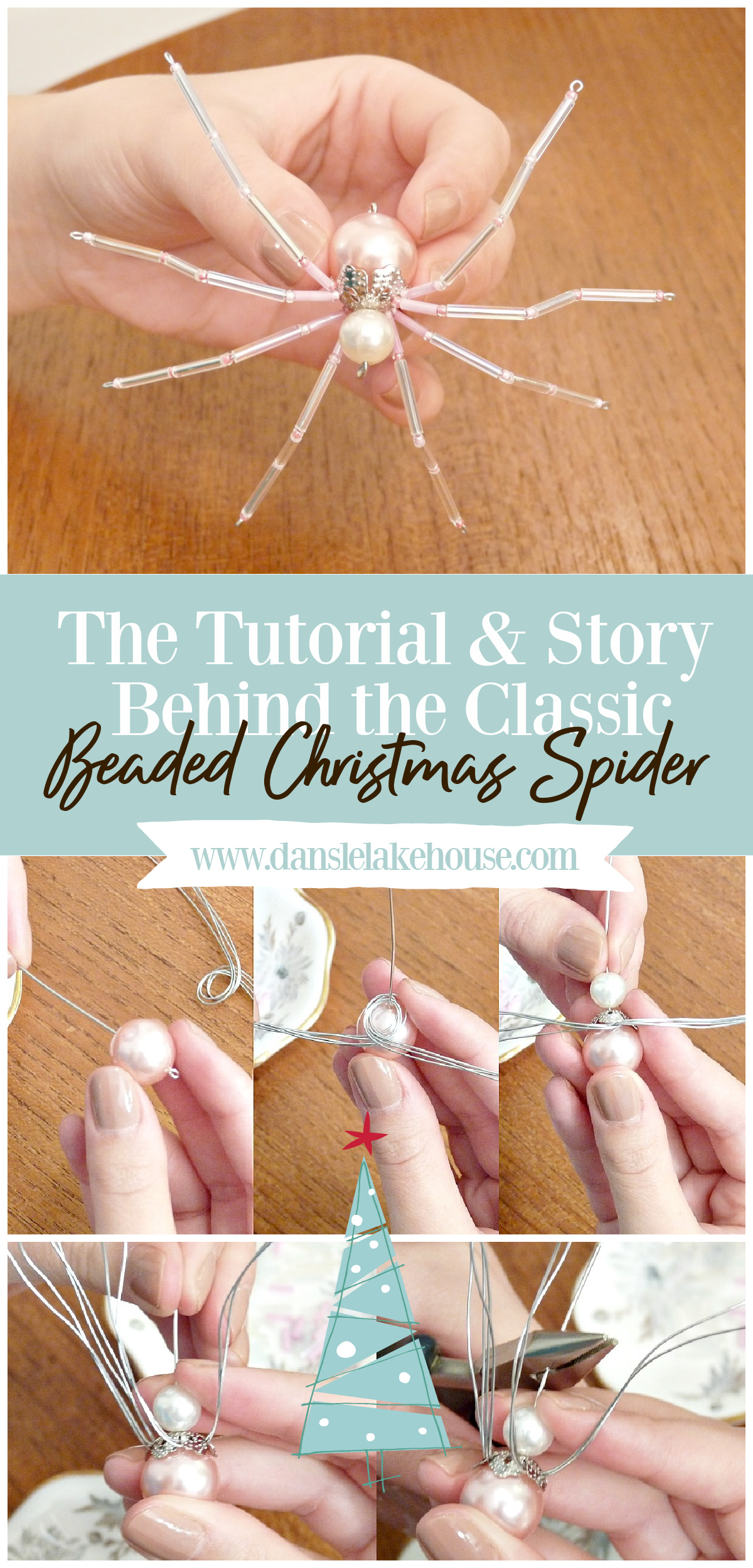How to Make Beaded Christmas Spiders