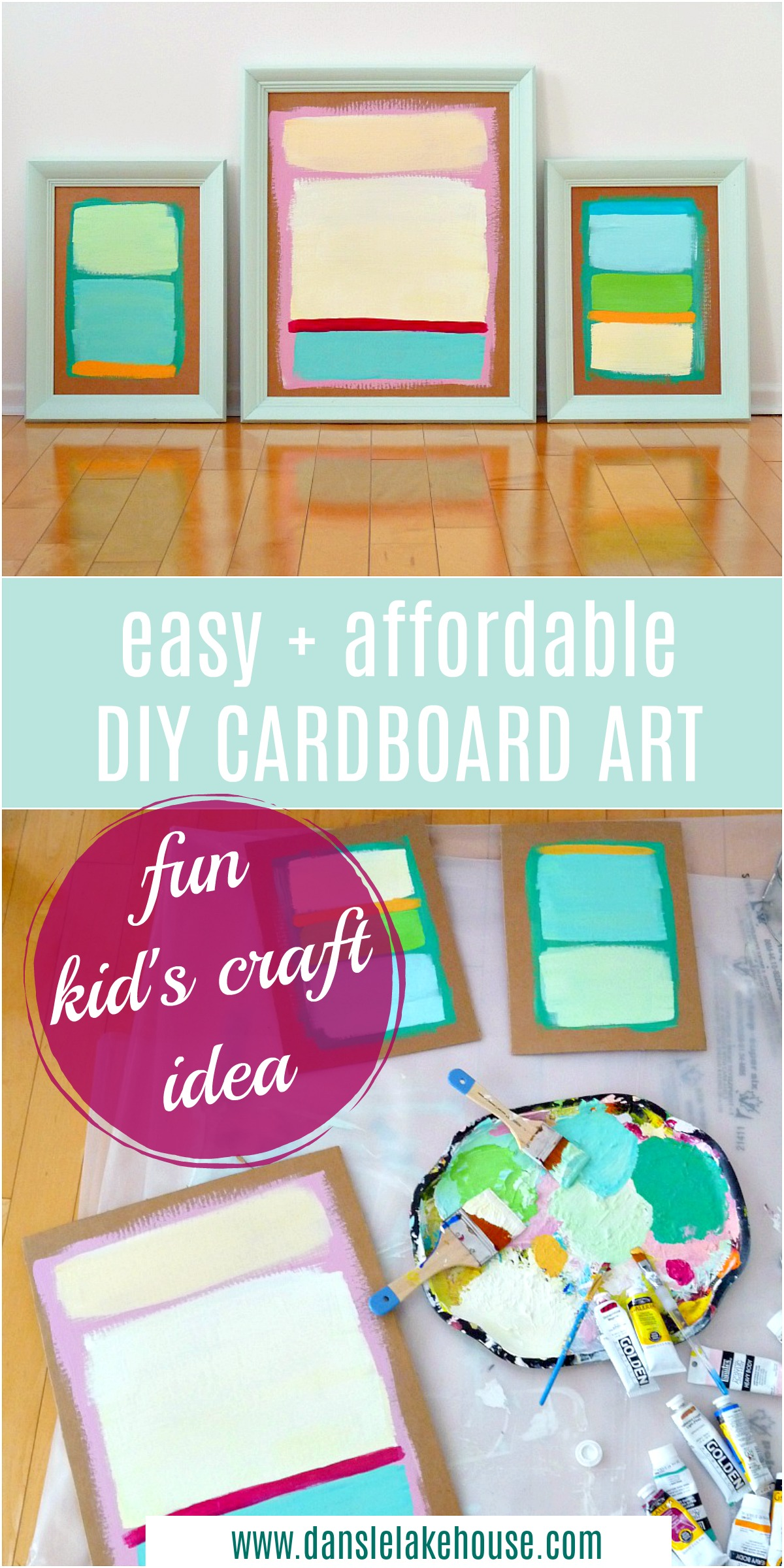 DIY cardboard art project for kids