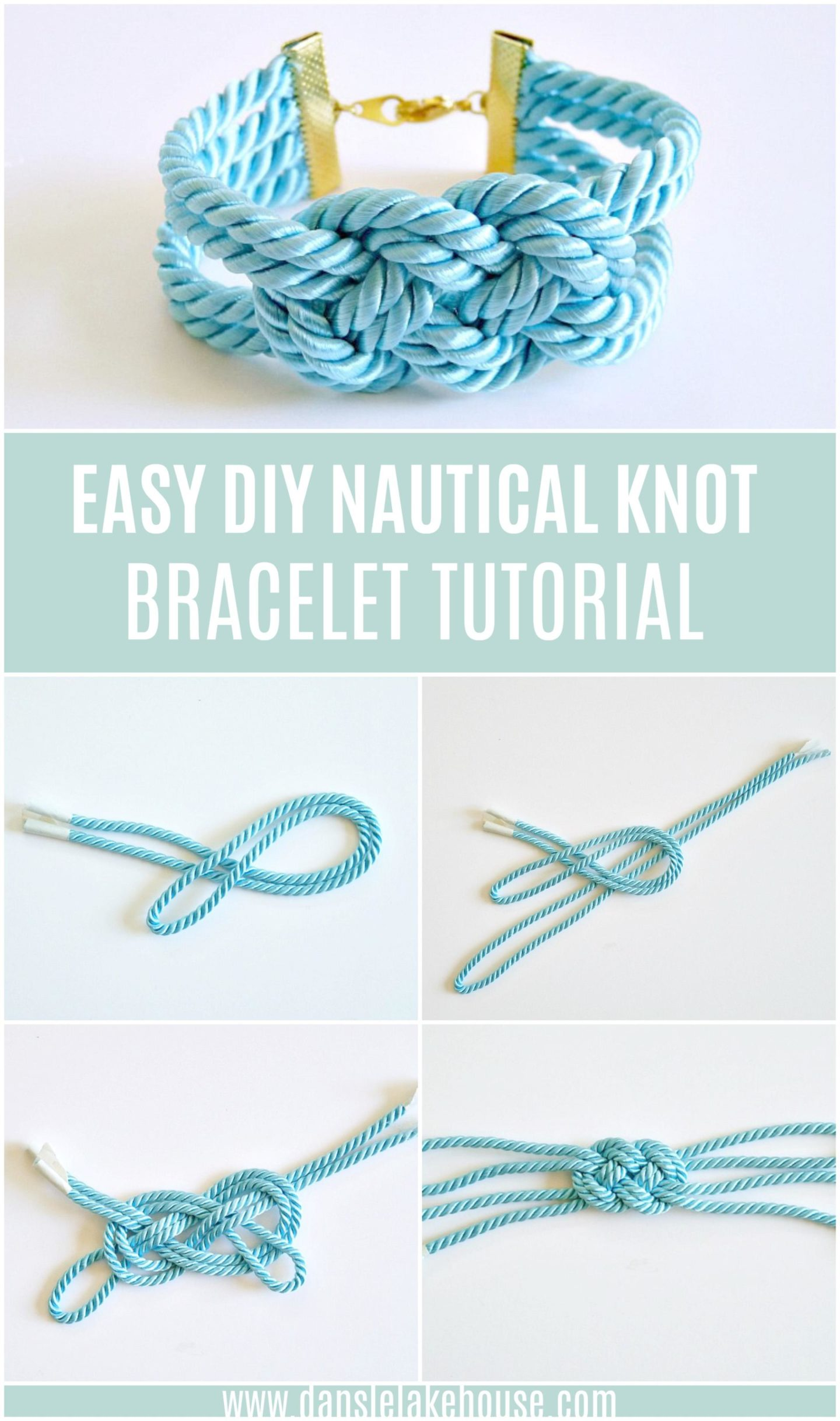 How to Make an Easy DIY Nautical Knot Bracelet Tutorial