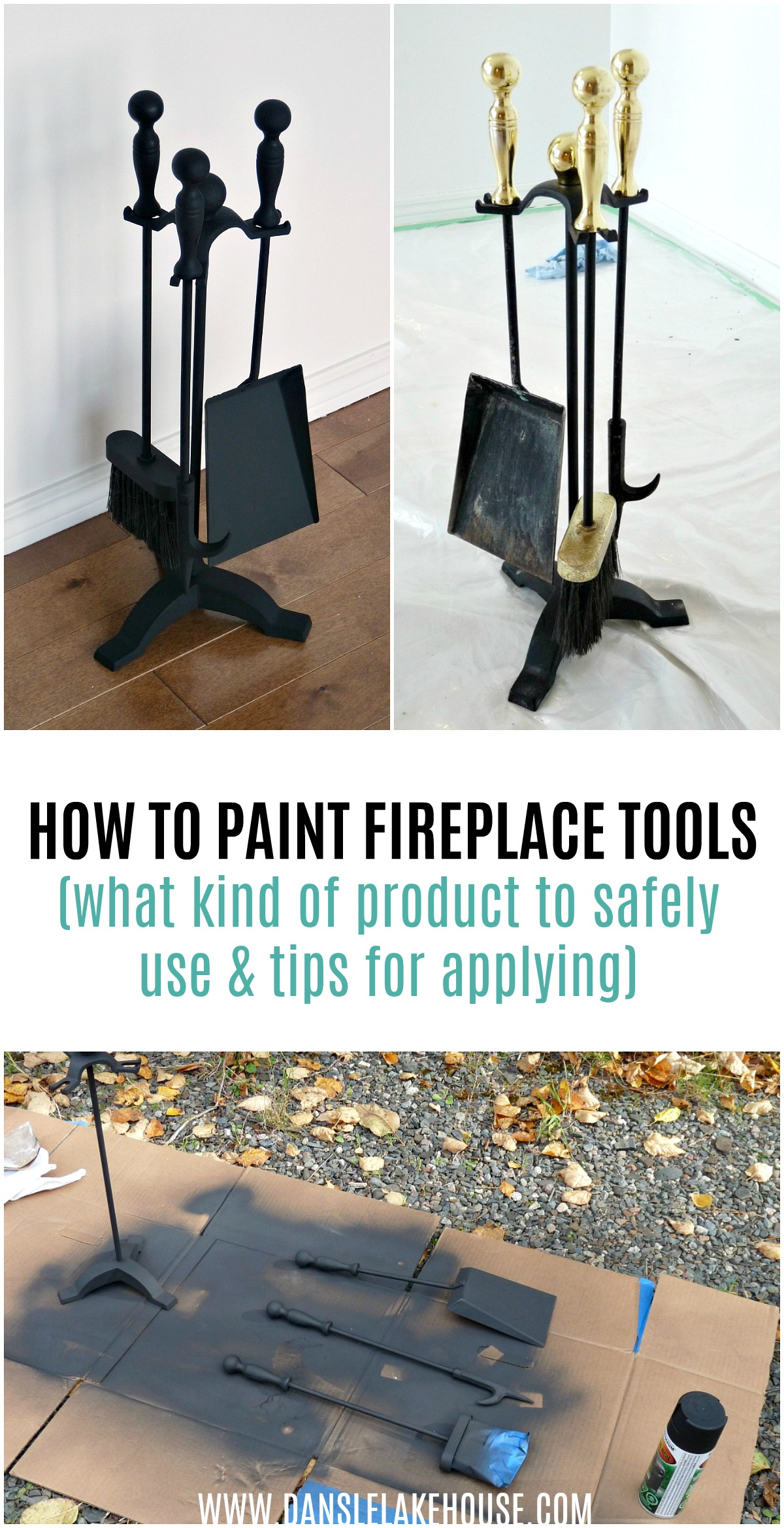 How to Paint Fireplace Tools | Give a Fire Poker Set a New Look with Paint