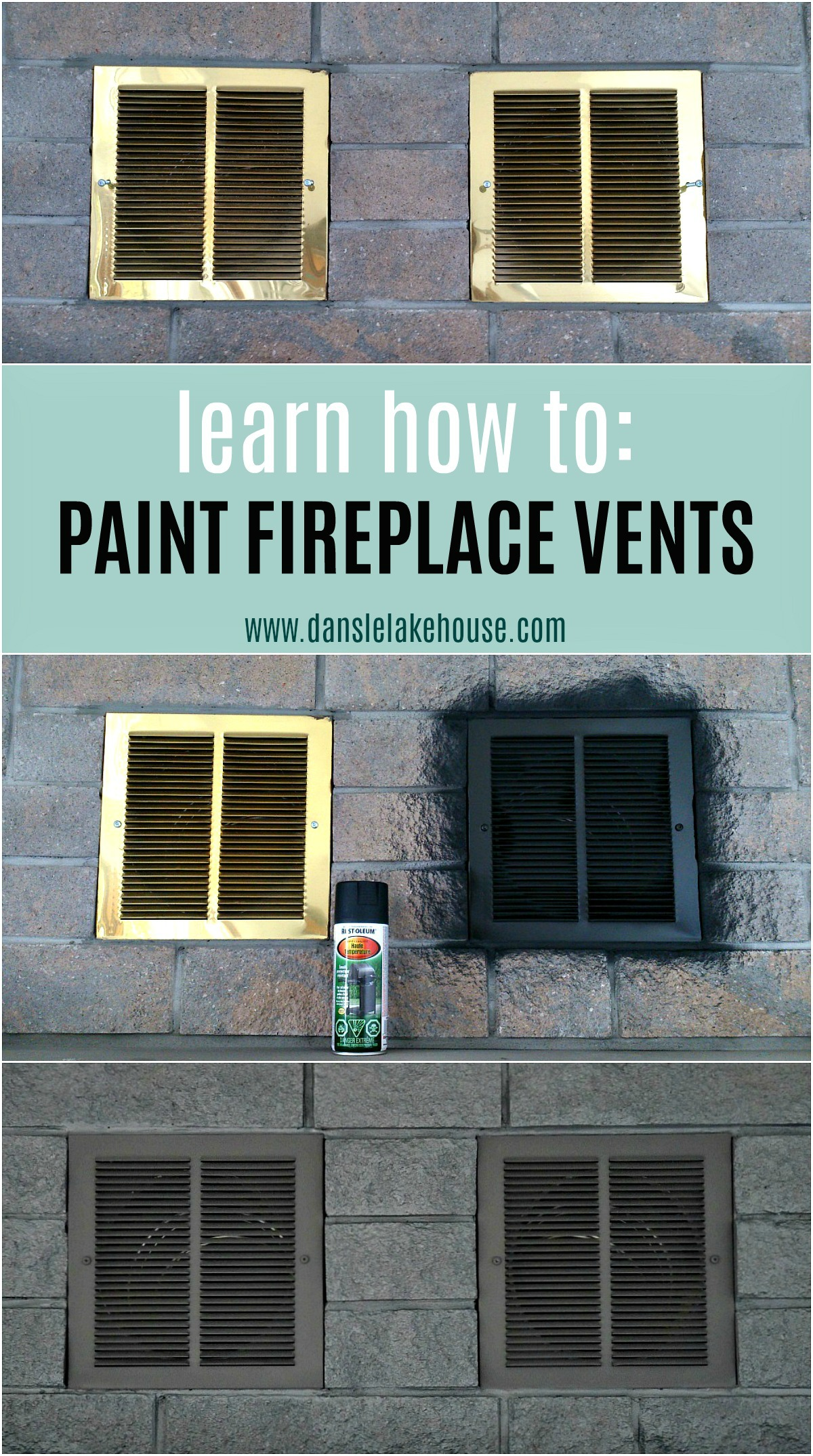 Upgrade Your Fireplace on a Budget! Learn How to Paint Fireplace Doors and Vents