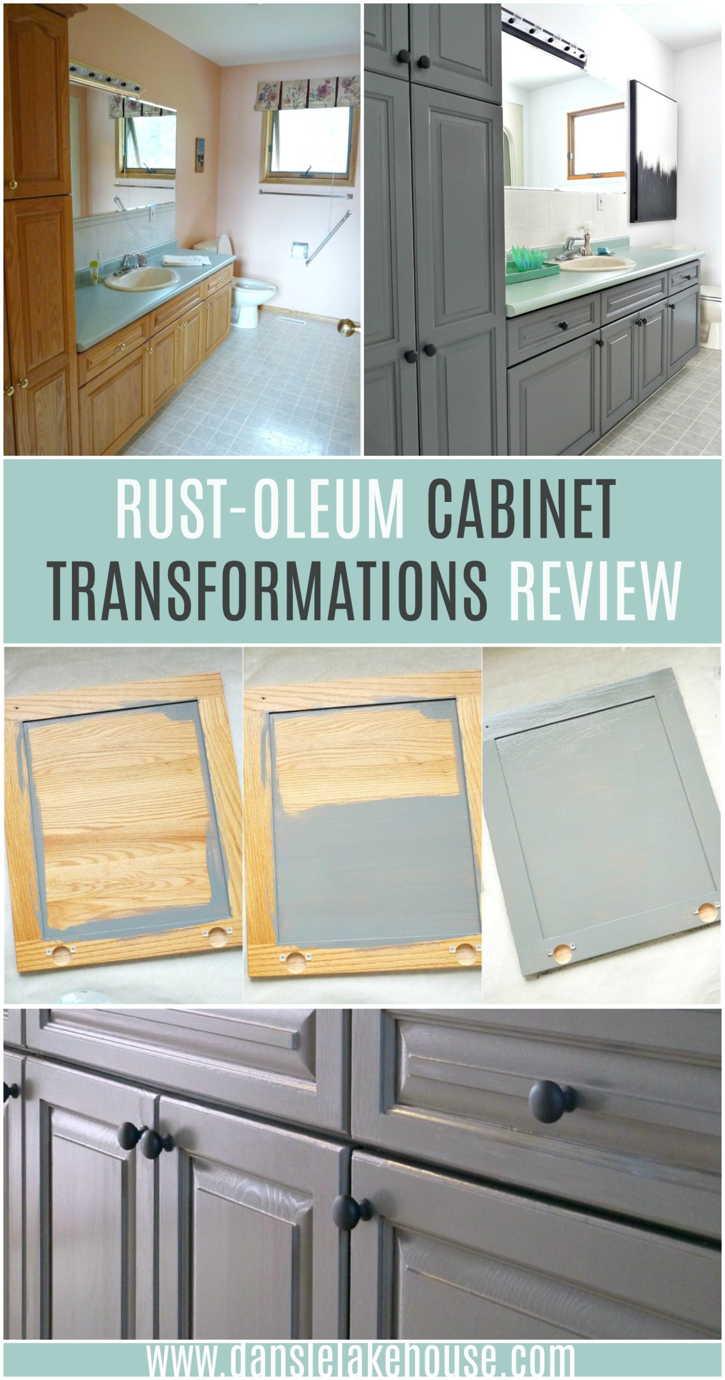 How To Refinish Bathroom Cabinets Easily Rust Oleum Cabinet Transformations Review Dans Le Lakehouse