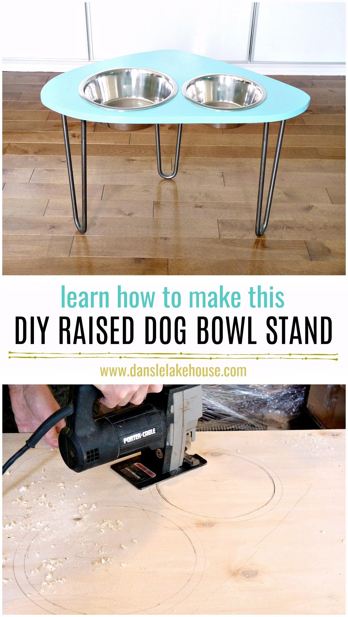 DIY Rasied Dog Bowl Stand