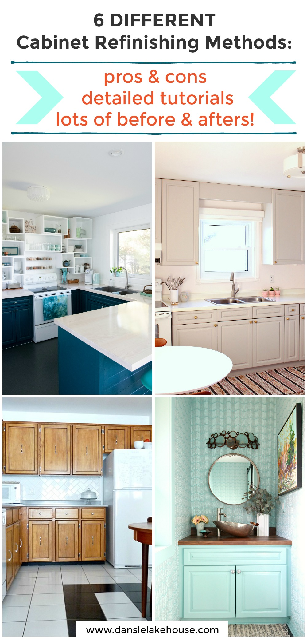 6 Different Cabinet Refinishing Methods Reviewed with Tutorials, Before/After Photos, and Tips
