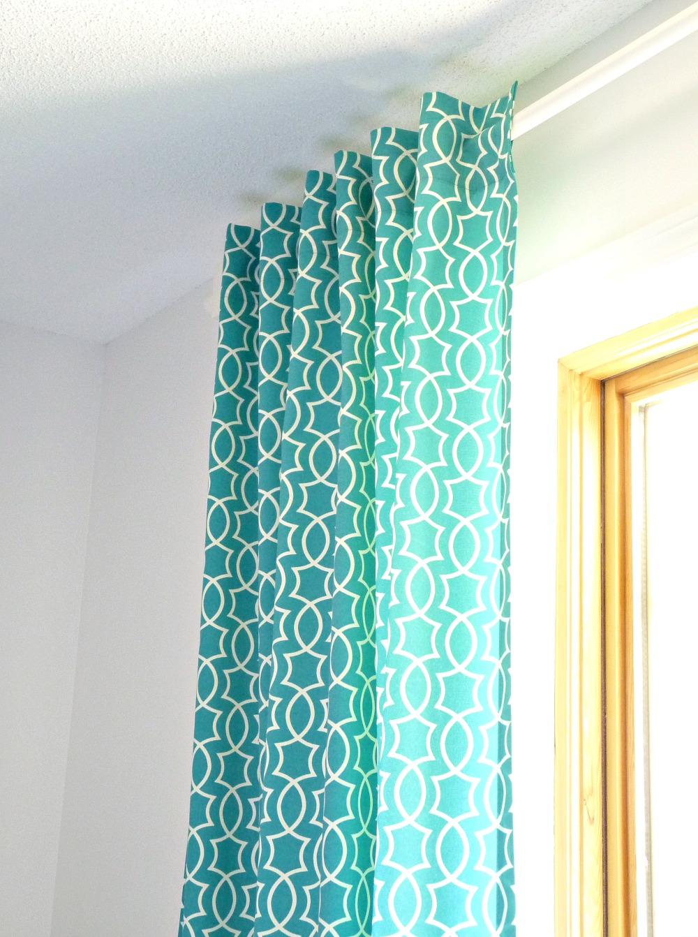 Diy Back Tab Curtain Tutorial Dans Le Lakehouse