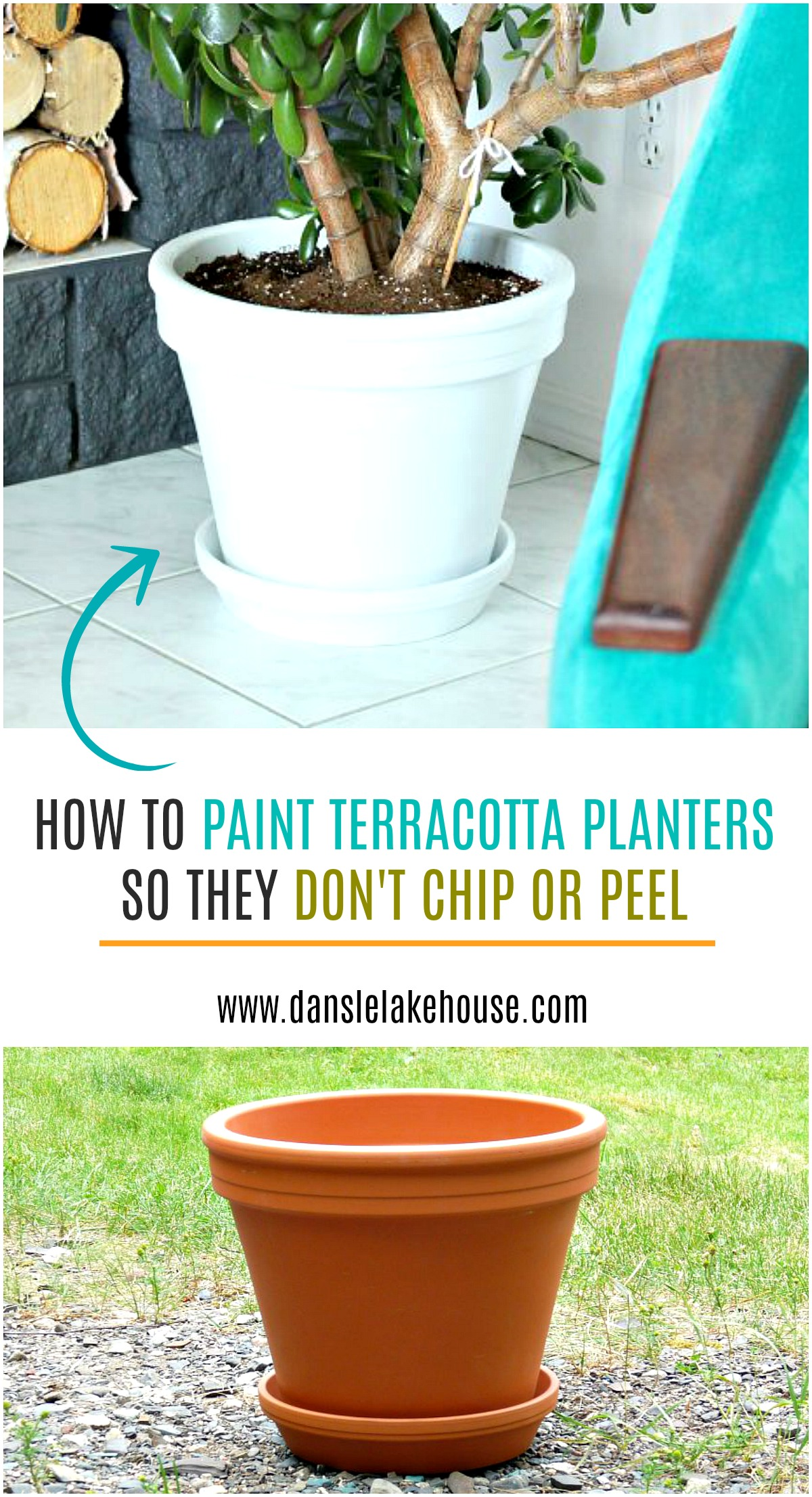 How to Paint Terracotta Planters so They Don't Chip or Peel #spraypainting #planterdiy #diy