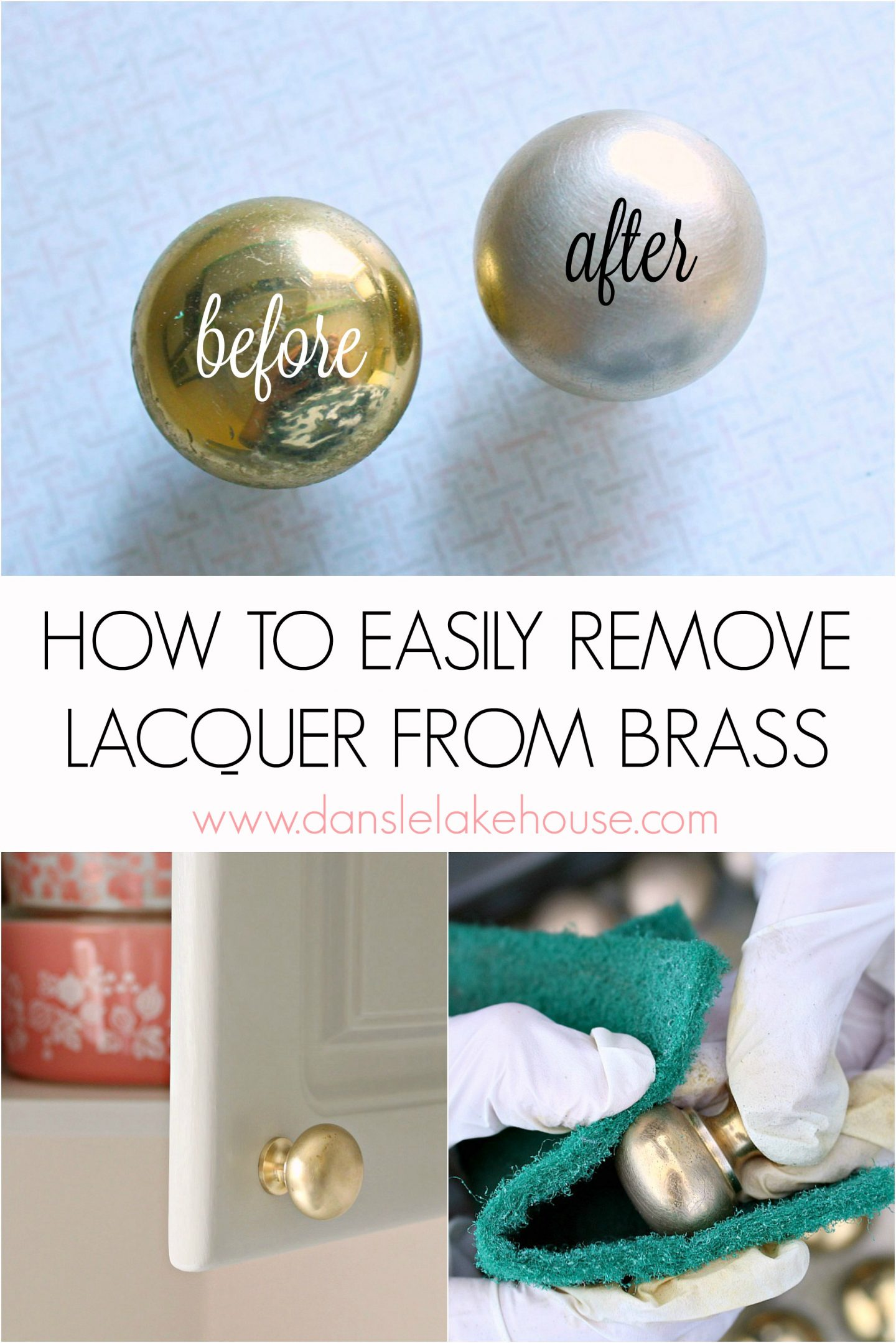 How to Remove Lacquer From Brass to Reveal a Brushed Finish | Refinish Brass Hardware | Money Saving Hacks