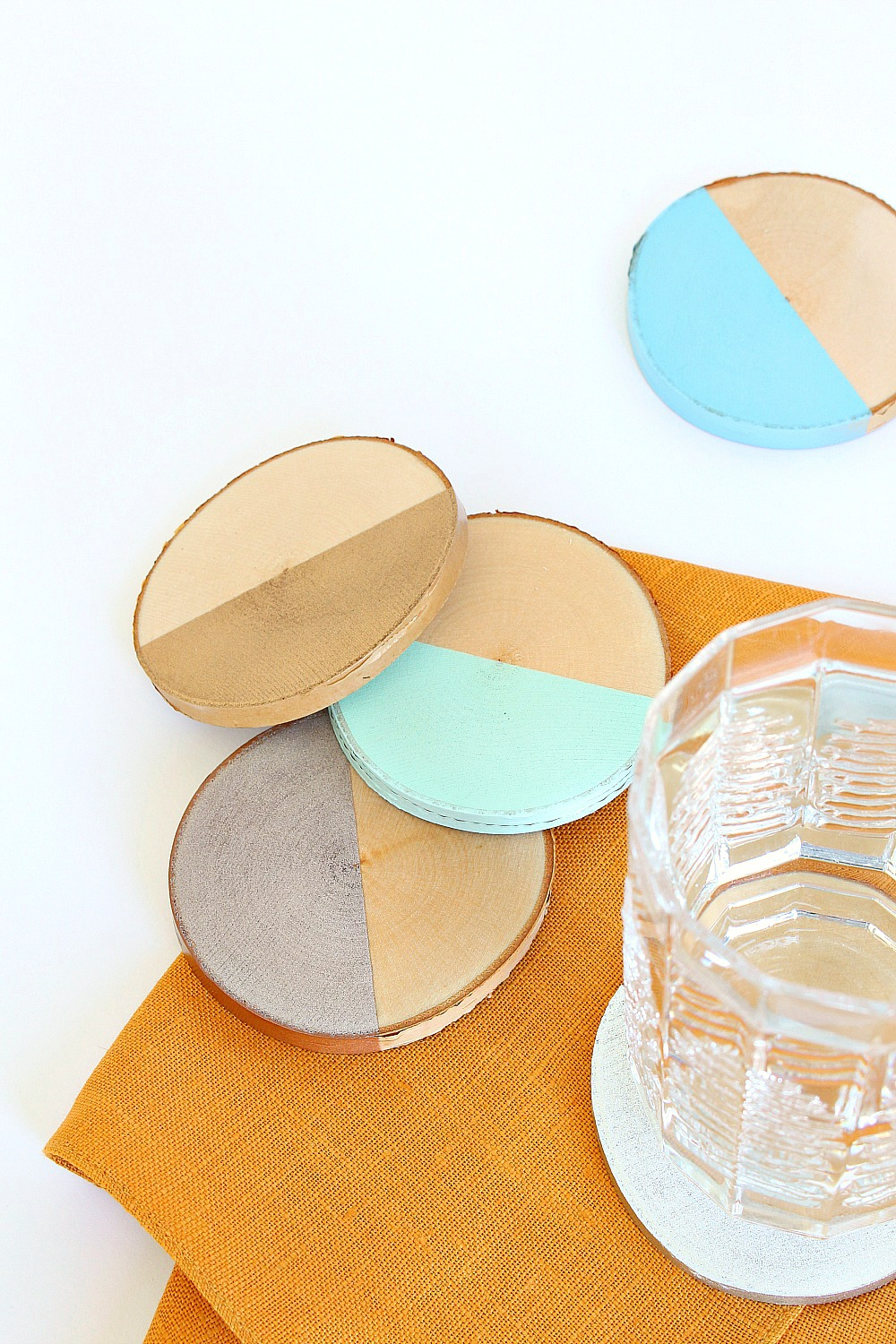 Dipped DIY Birch Slice Coasters
