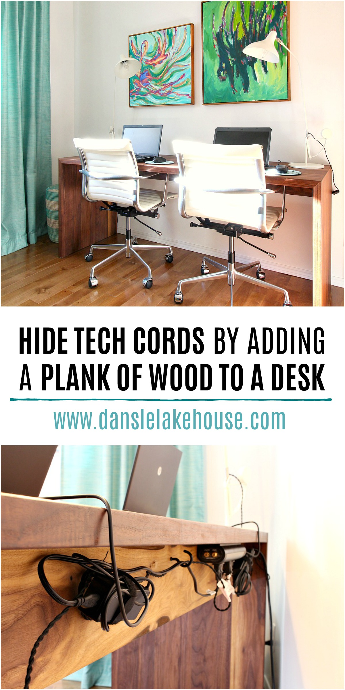 How to hide desk cords