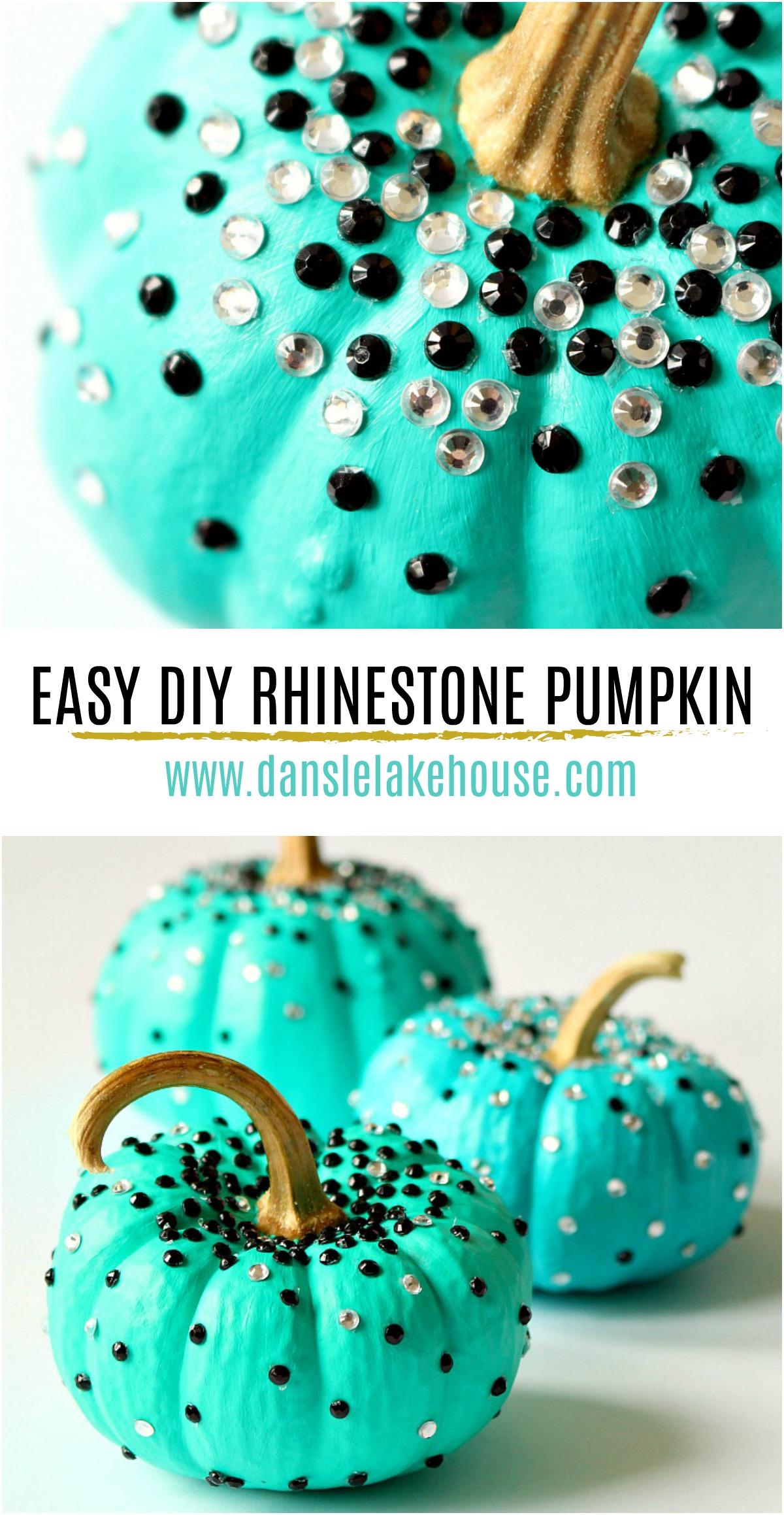 Easy DIY Rhinestone Pumpkin