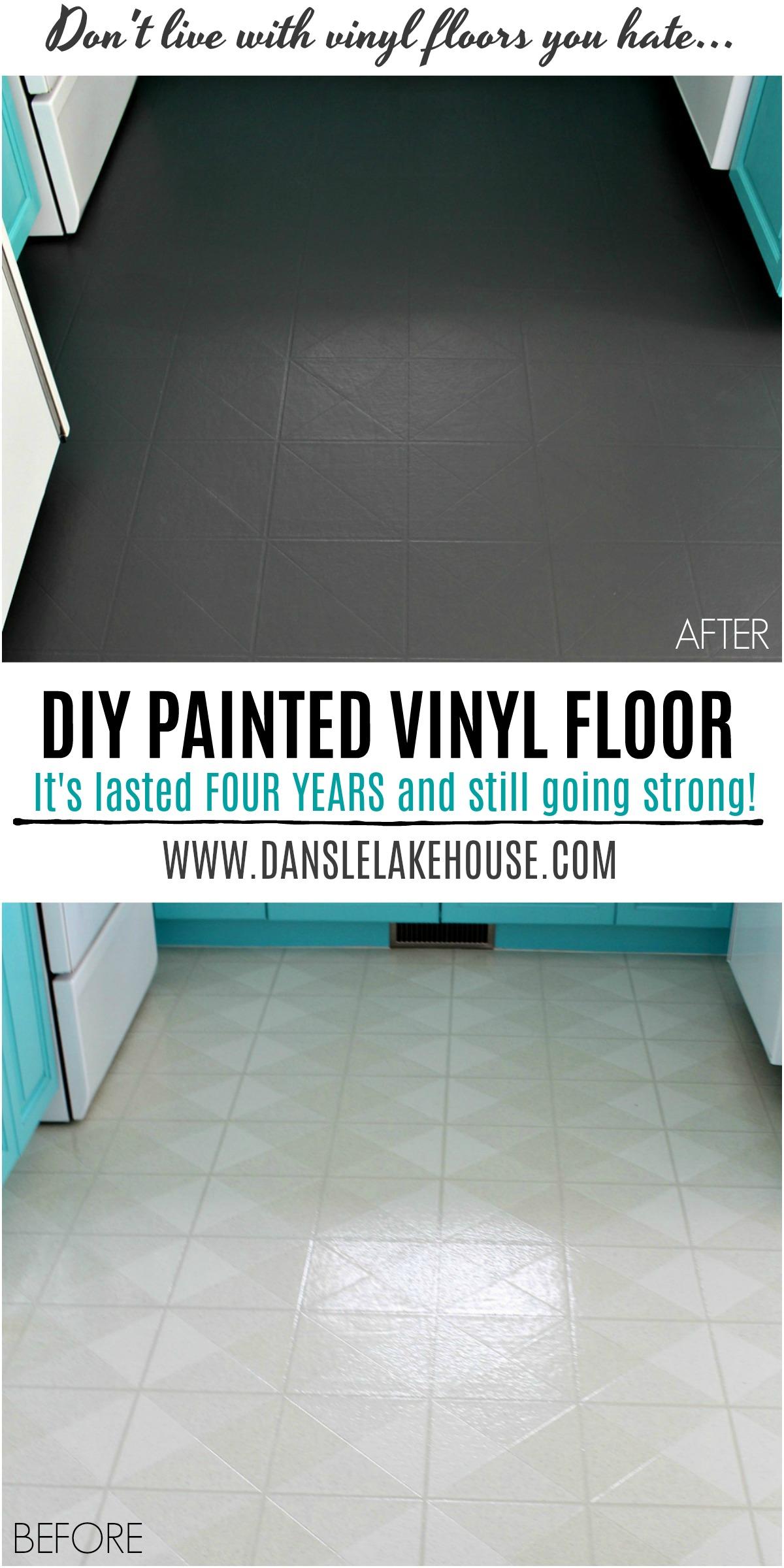 How to Paint Vinyl Floors