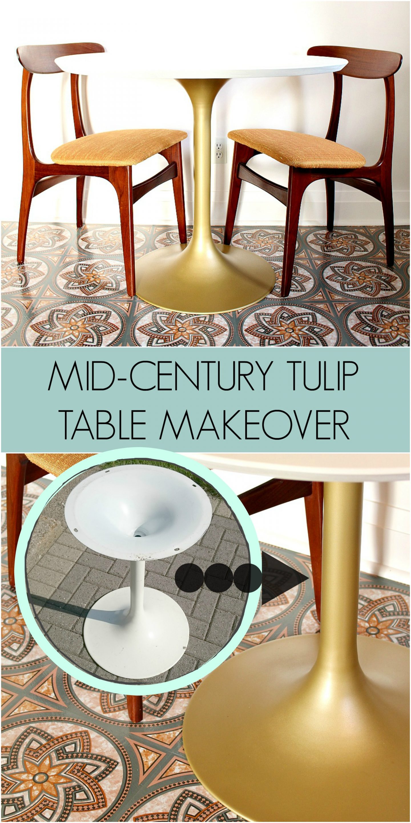 Mid-Century Tulip Table Makeover | Dans le Lakehouse
