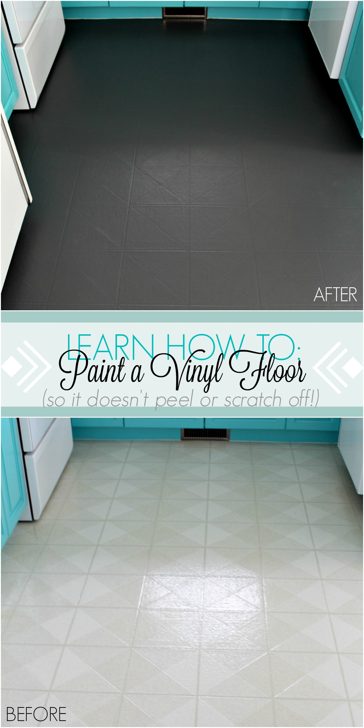 How To Paint A Vinyl Floor Diy Painted Floors Dans Le Lakehouse