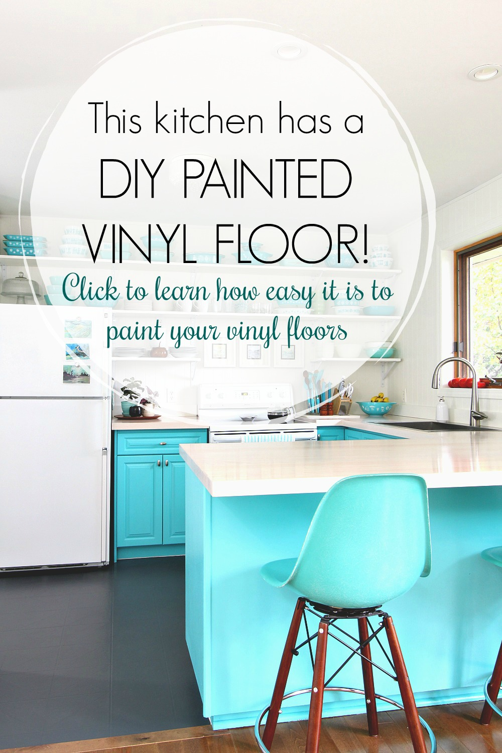 How to Paint a Vinyl Floor | DIY Painted Floors | Dans le