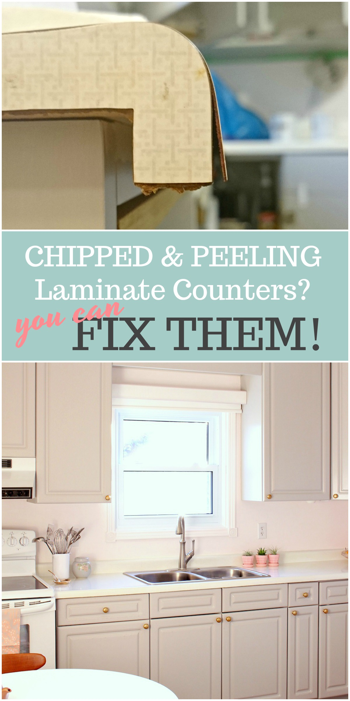 how to fix laminate countertop lifting