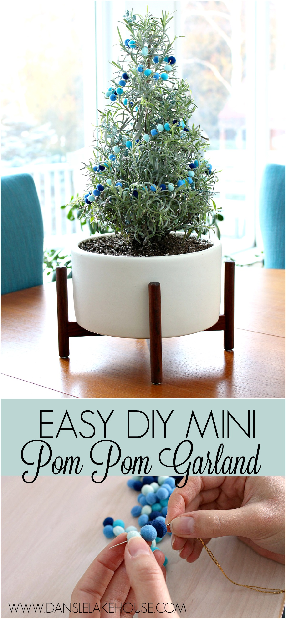 DIY Mini Pom Pom Garland for My Lavender Plant