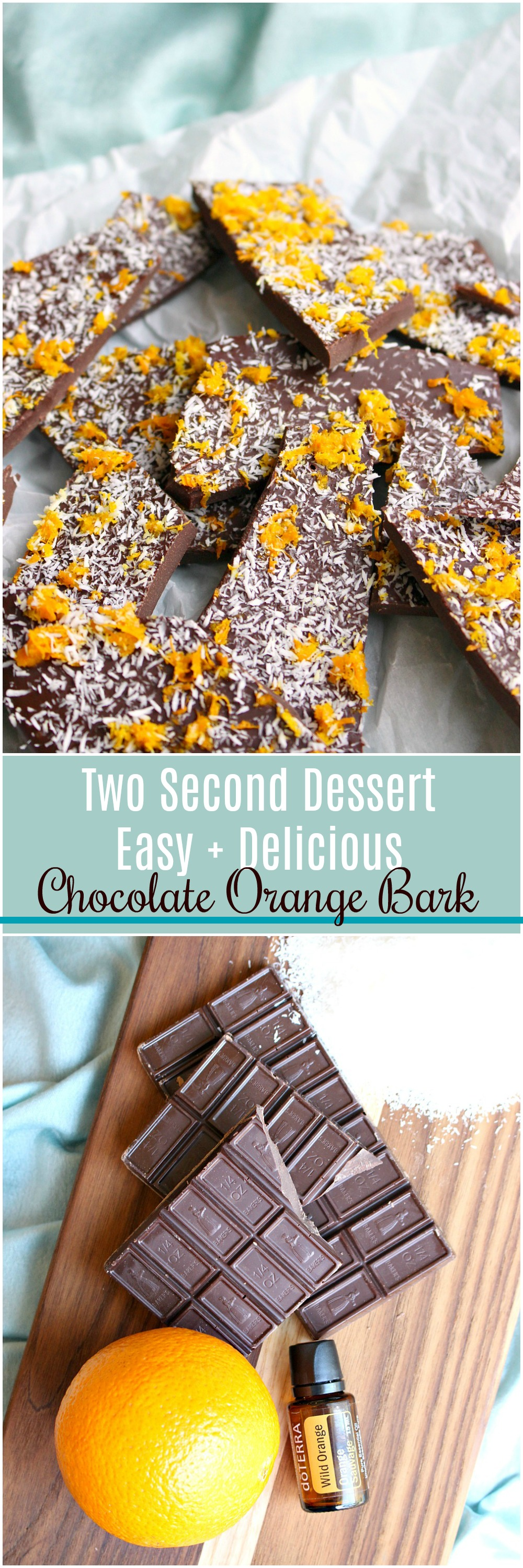 Chocolate Orange Bark with Essential Oils