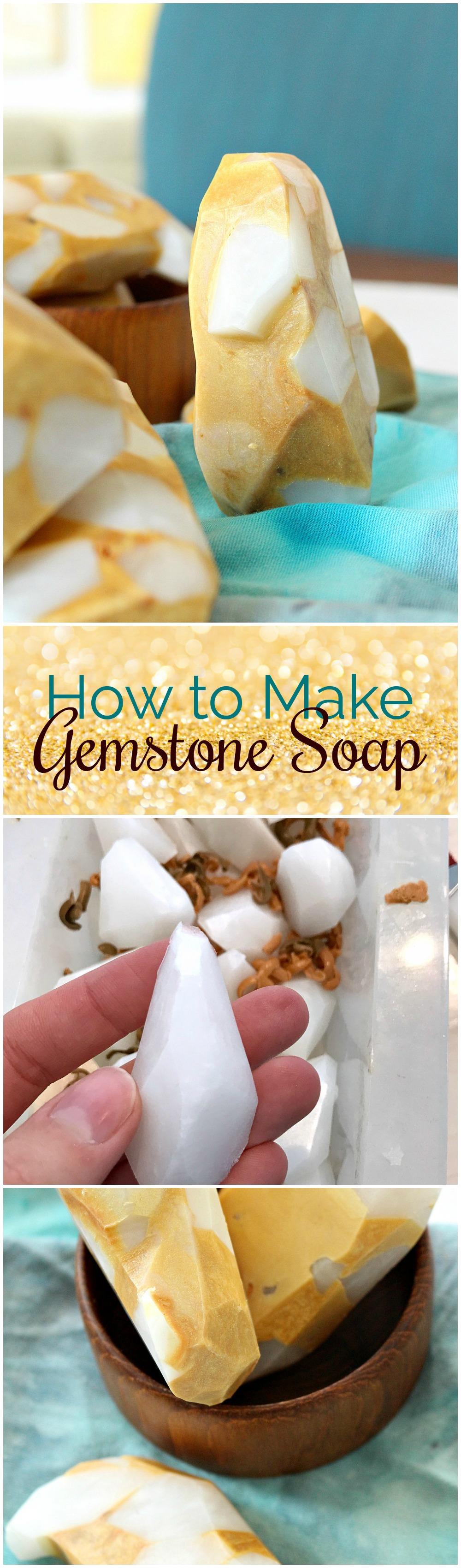 DIY Soap Rocks (Crystal and Gold Vein Variation) | Dans le