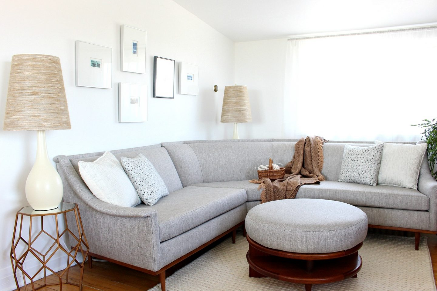 Mid-Century Modern Sectional Sofa Makeover | Before and After