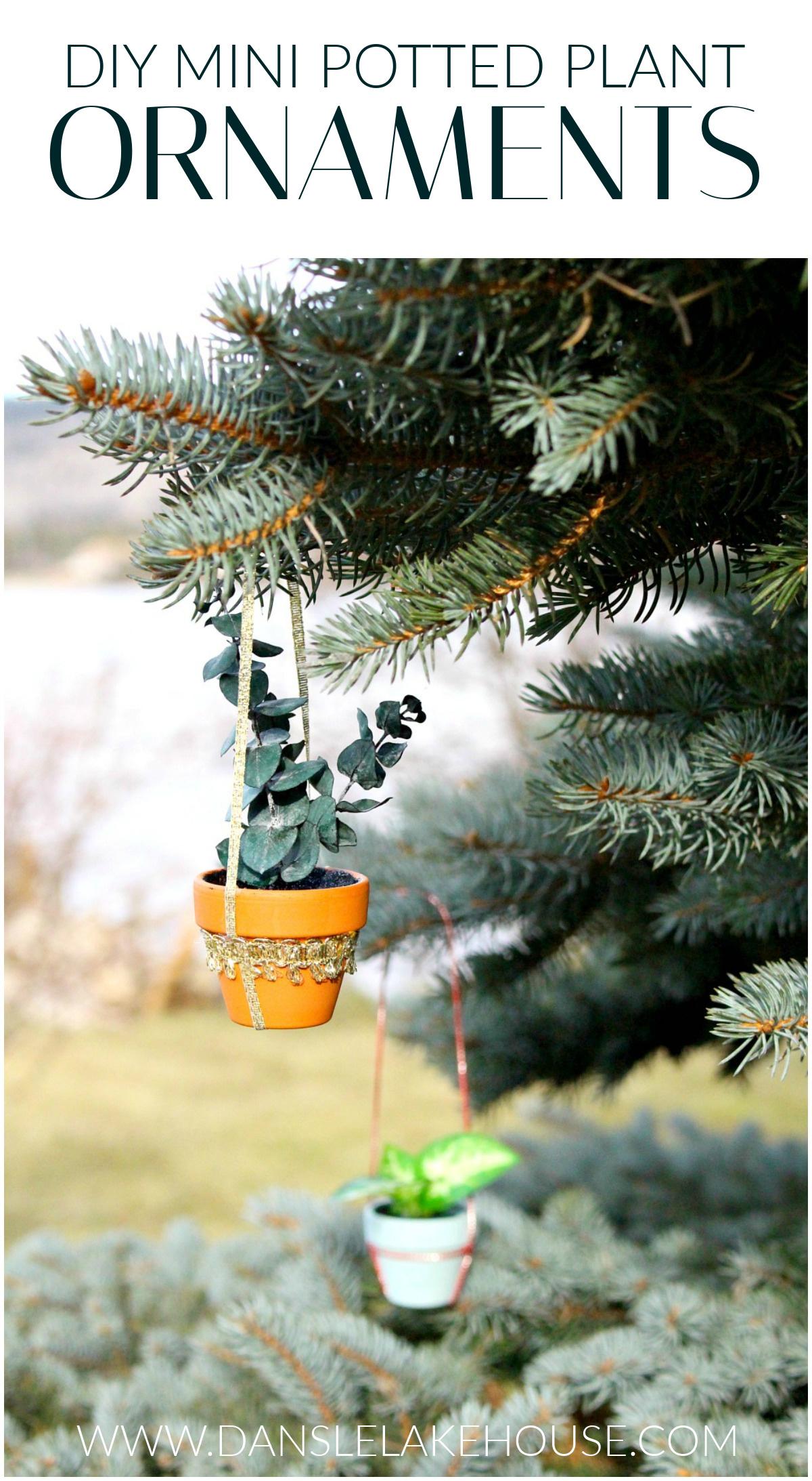 DIY mini potted plant ornaments