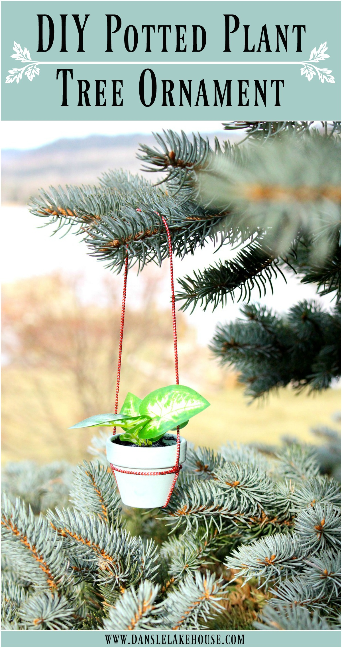 DIY Potted Plant Christmas Tree Ornament - Anthro Knock Off