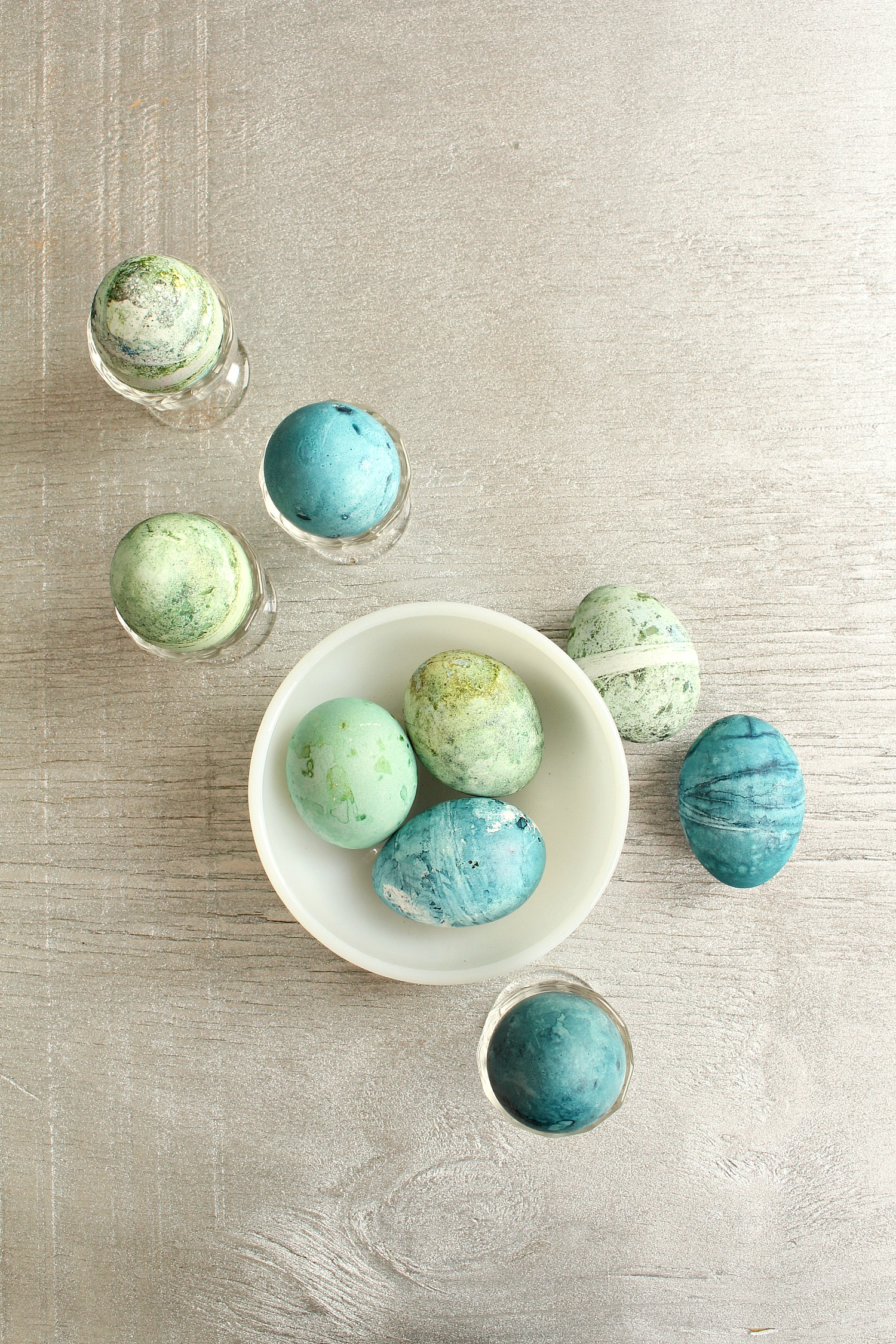 Cabbage Dyed Eggs