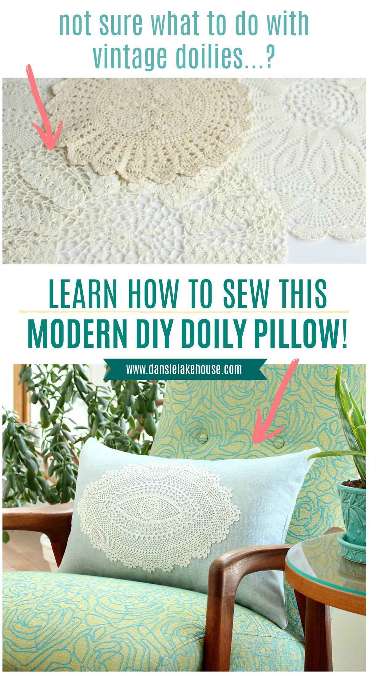 DIY Doily Craft Idea: Modern DIY Doily Pillow