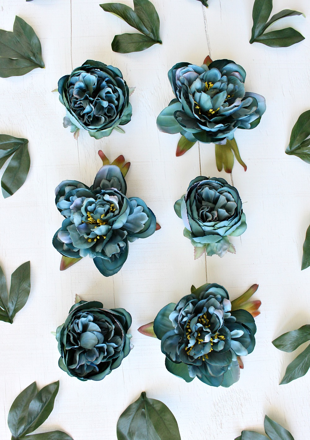 Teal Fake Flowers