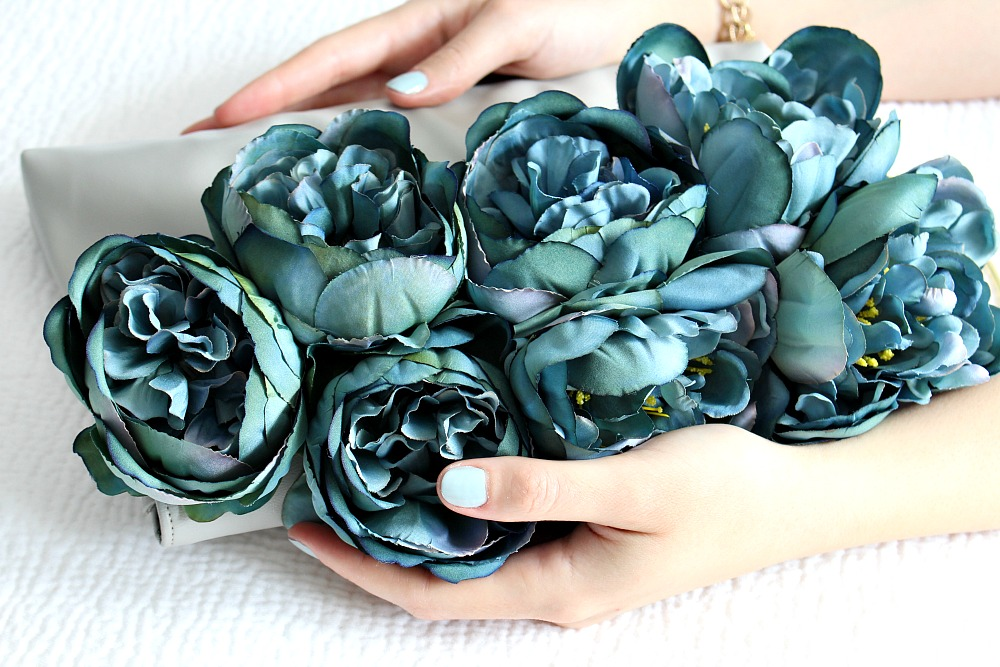 Upgrade a Plain Clutch with Faux Flowers
