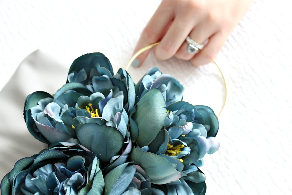 DIY Faux Flower Clutch Purse