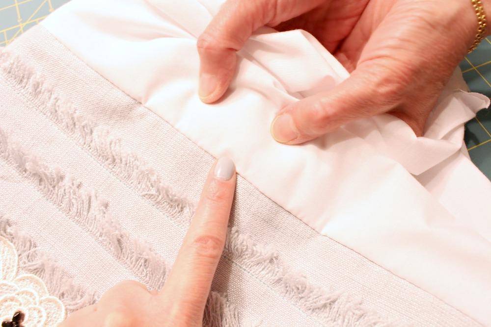 Sew a Lining Flat