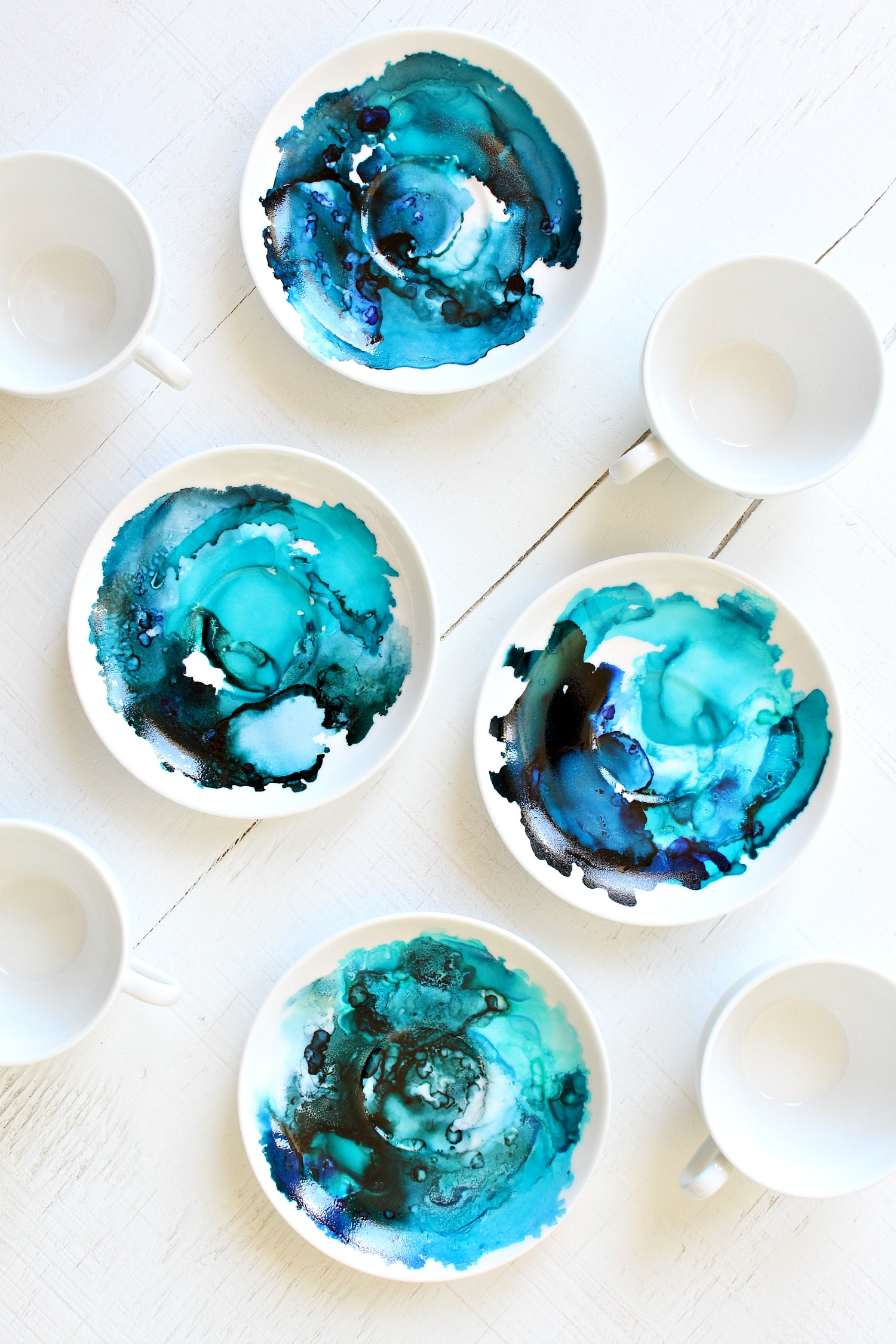 How To Use Alcohol Ink On Ceramics Dans Le Lakehouse