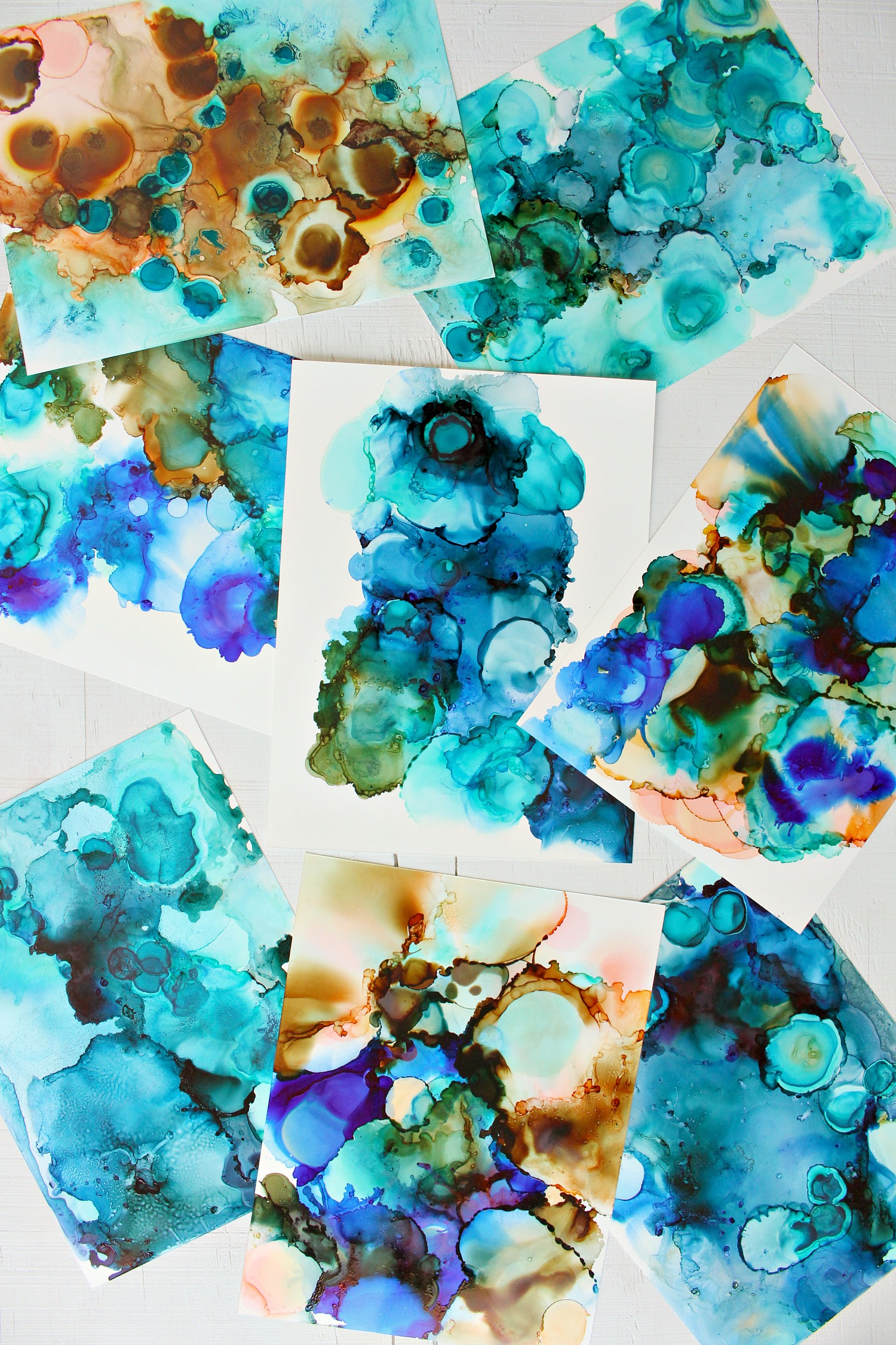 Alcohol Ink Art DIY