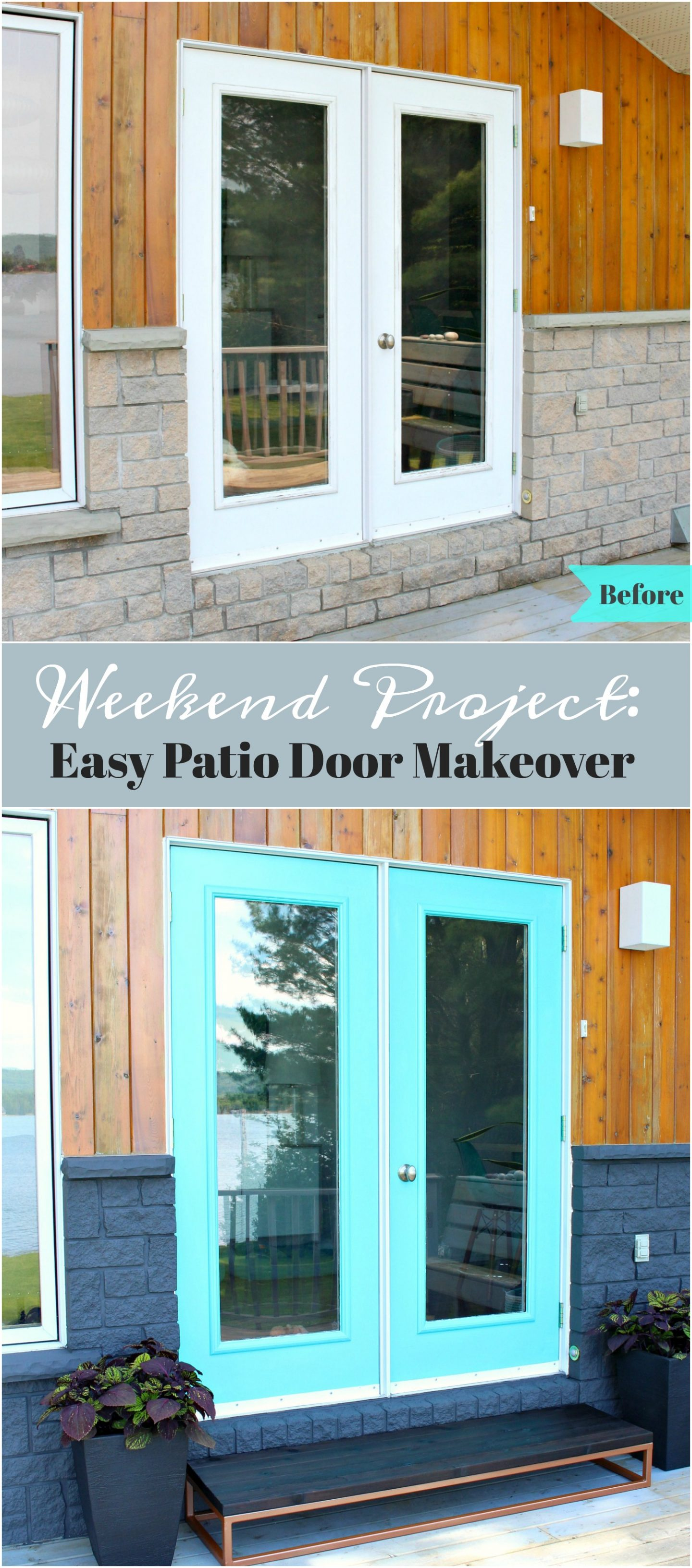 Patio Door Makeover - Before and After