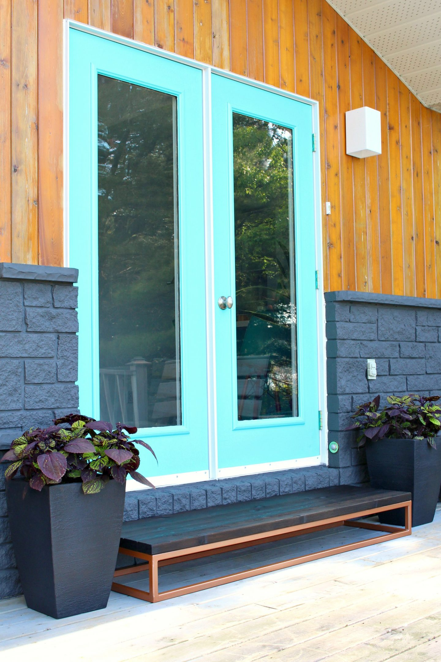 Exterior Door Makeover Reveal - Before and After