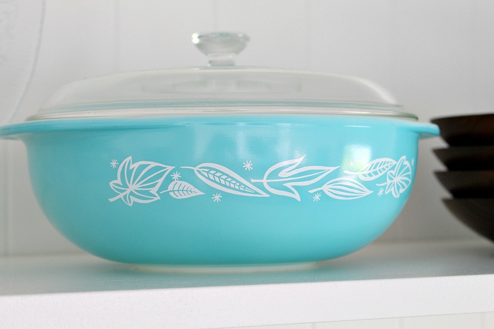 Blowing Leaves Pyrex