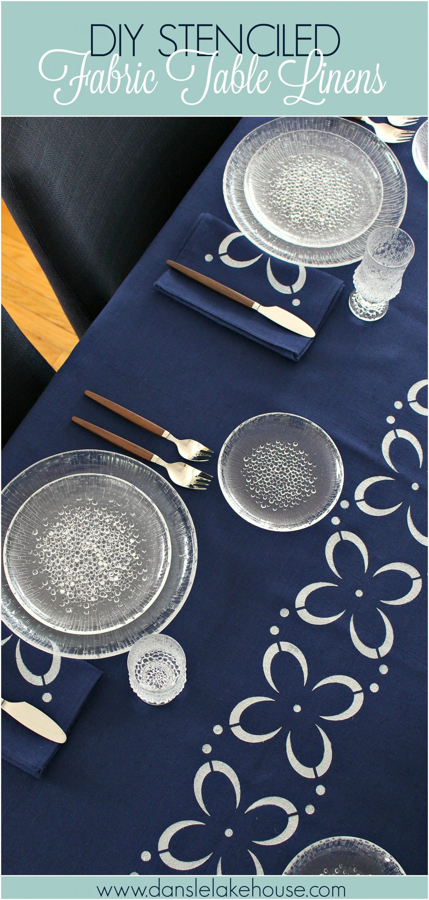 DIY Stenciled Fabric Table Linens