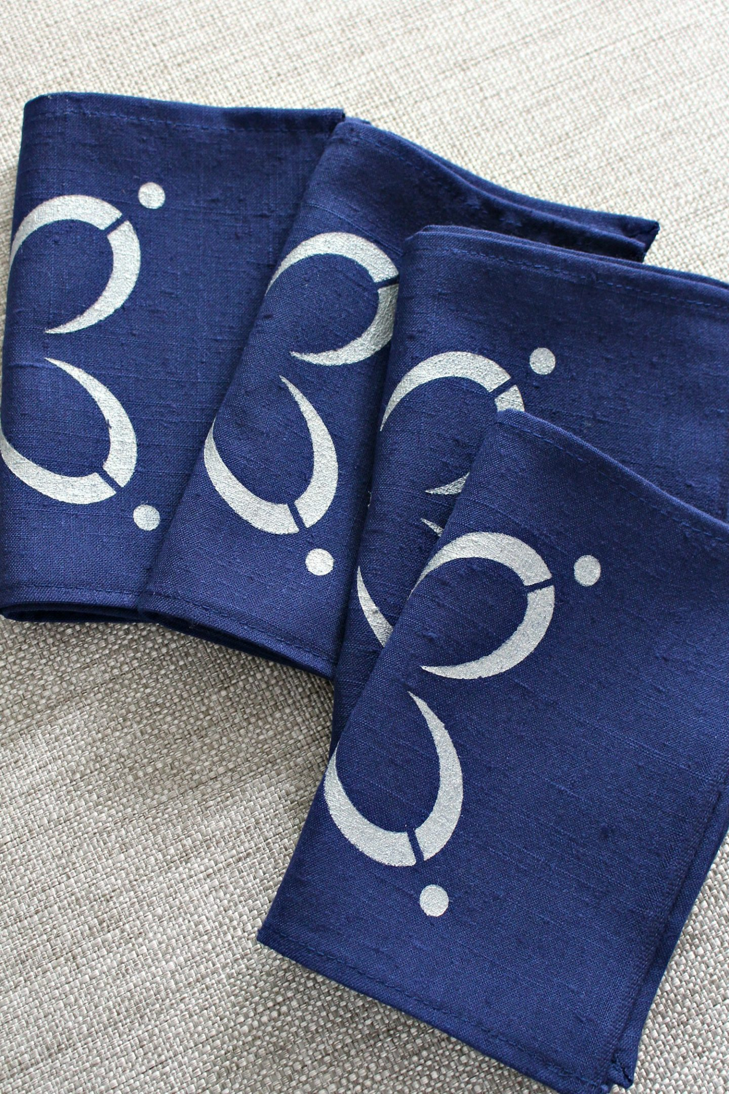 DIY Stenciled Napkins