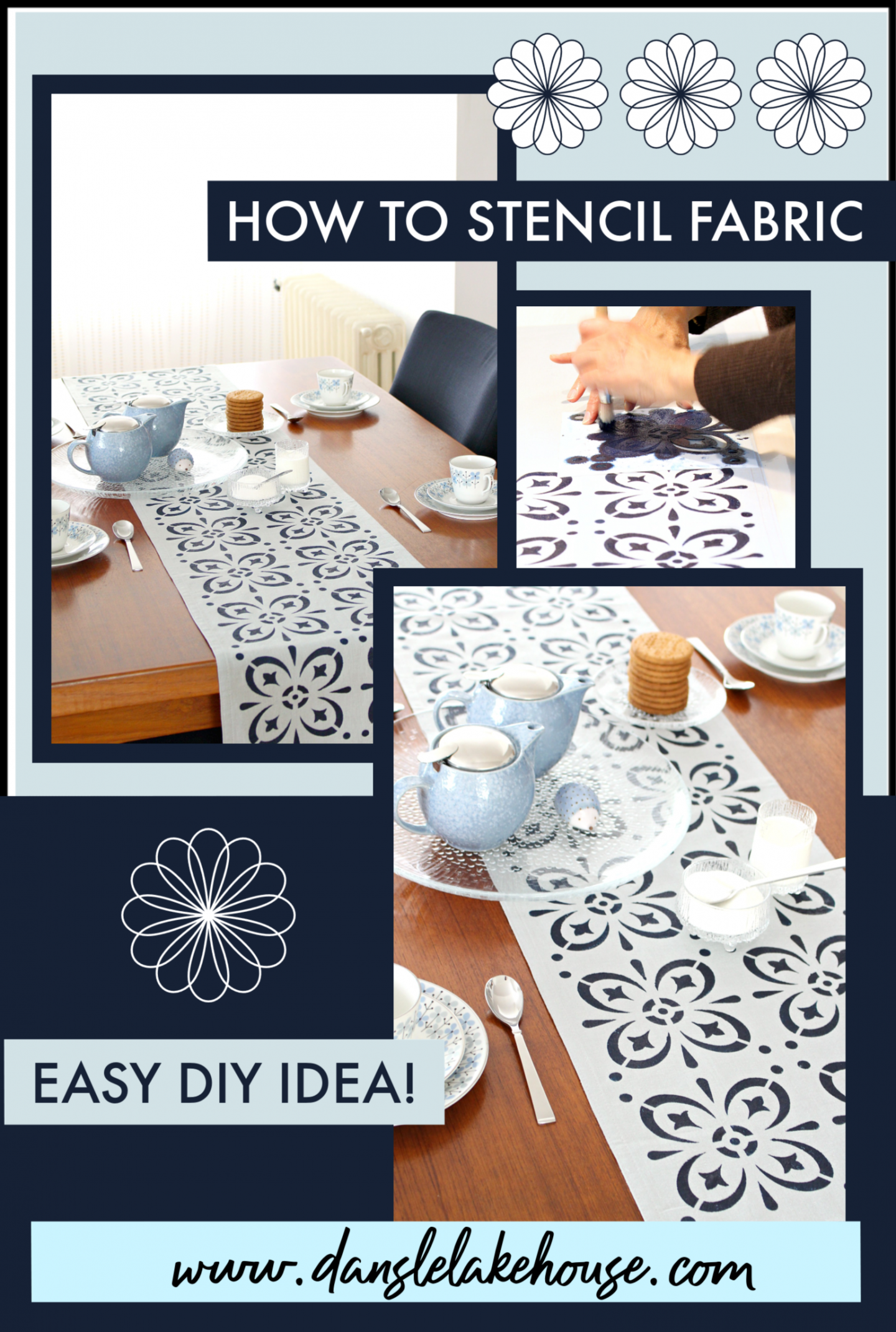 How to stencil fabric easy DIY