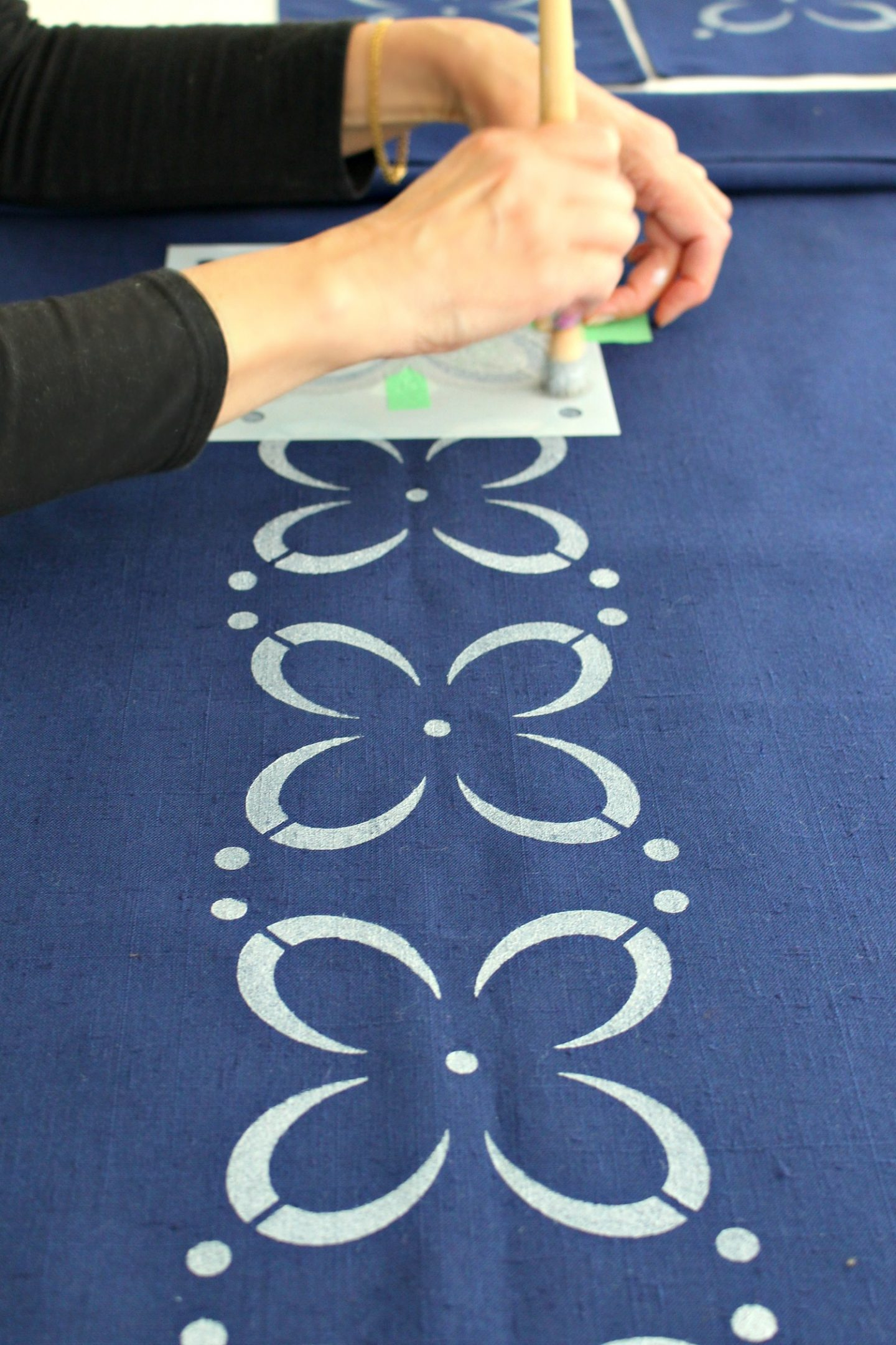 How to Stencil Fabric