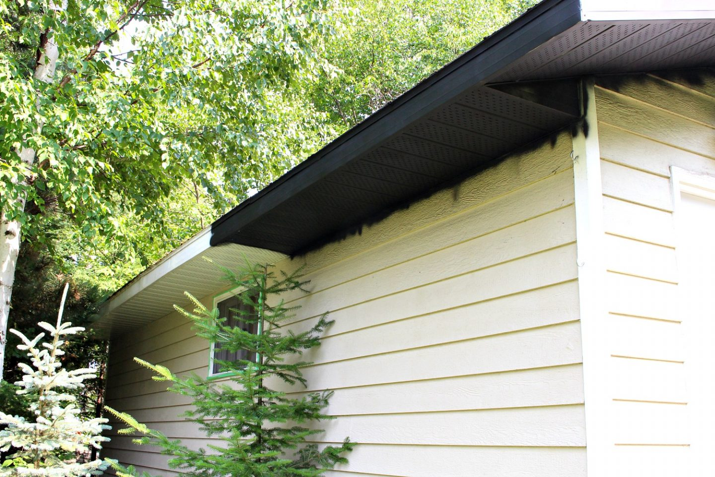 DIY painted soffit and fascia
