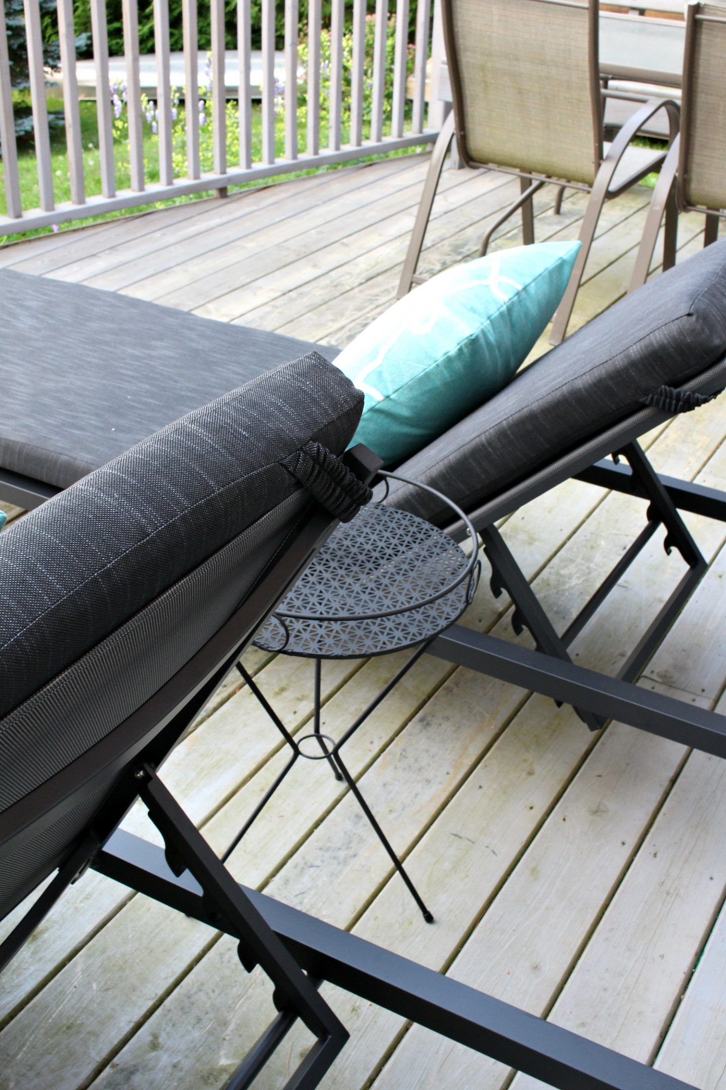 Modern Dark Grey Patio Loungers