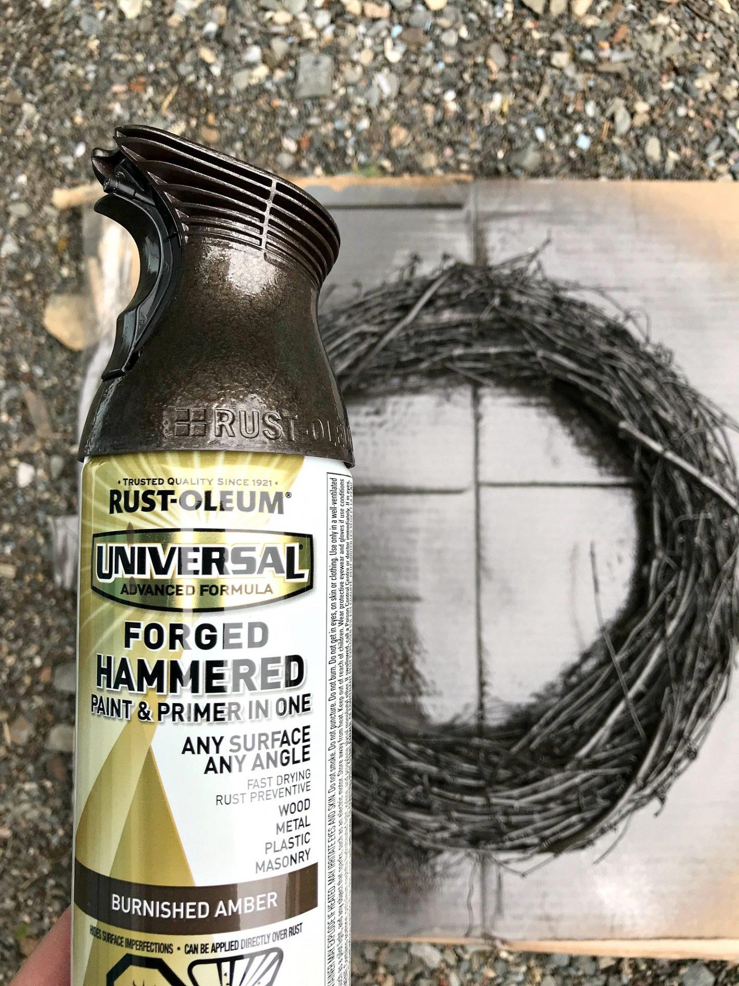 Spray Paint a Grapevine Wreath