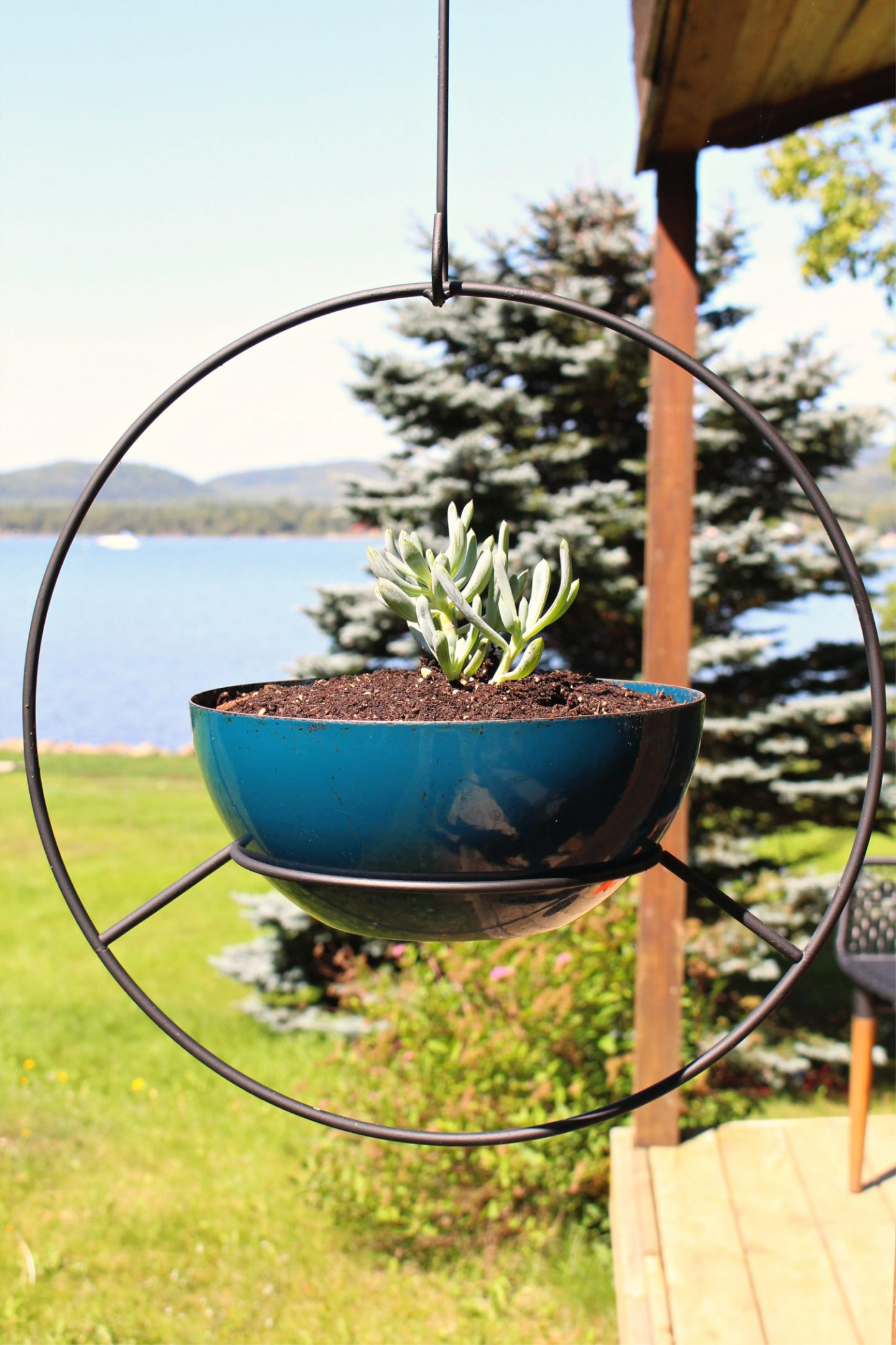 Outdoor Hanging Hoop Planter