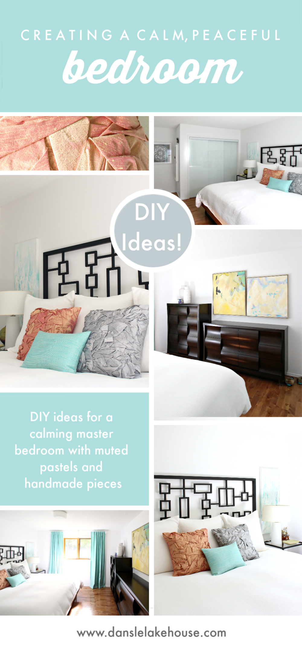 Peaceful Bedroom Decor Makeover with Muted Pastels