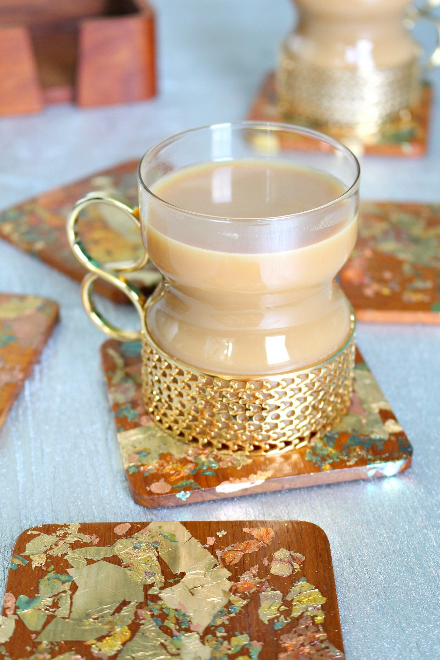 Easy DIY Gold Leaf Coasters