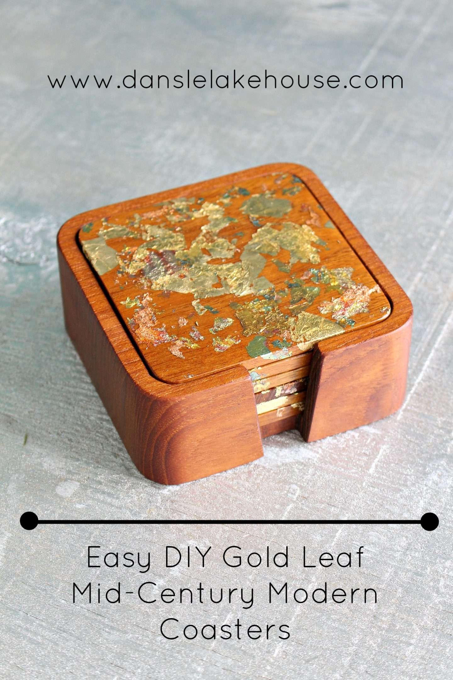 DIY Gold Leaf Coasters