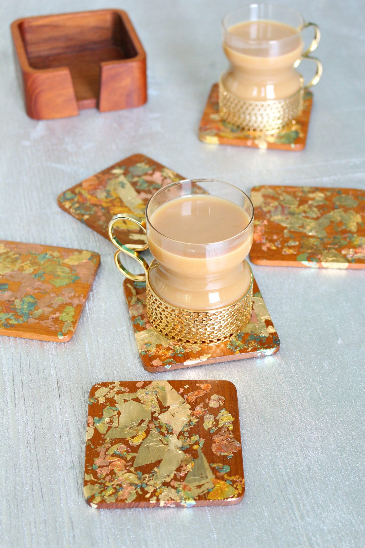 DIY Gold Leaf Coaster Project
