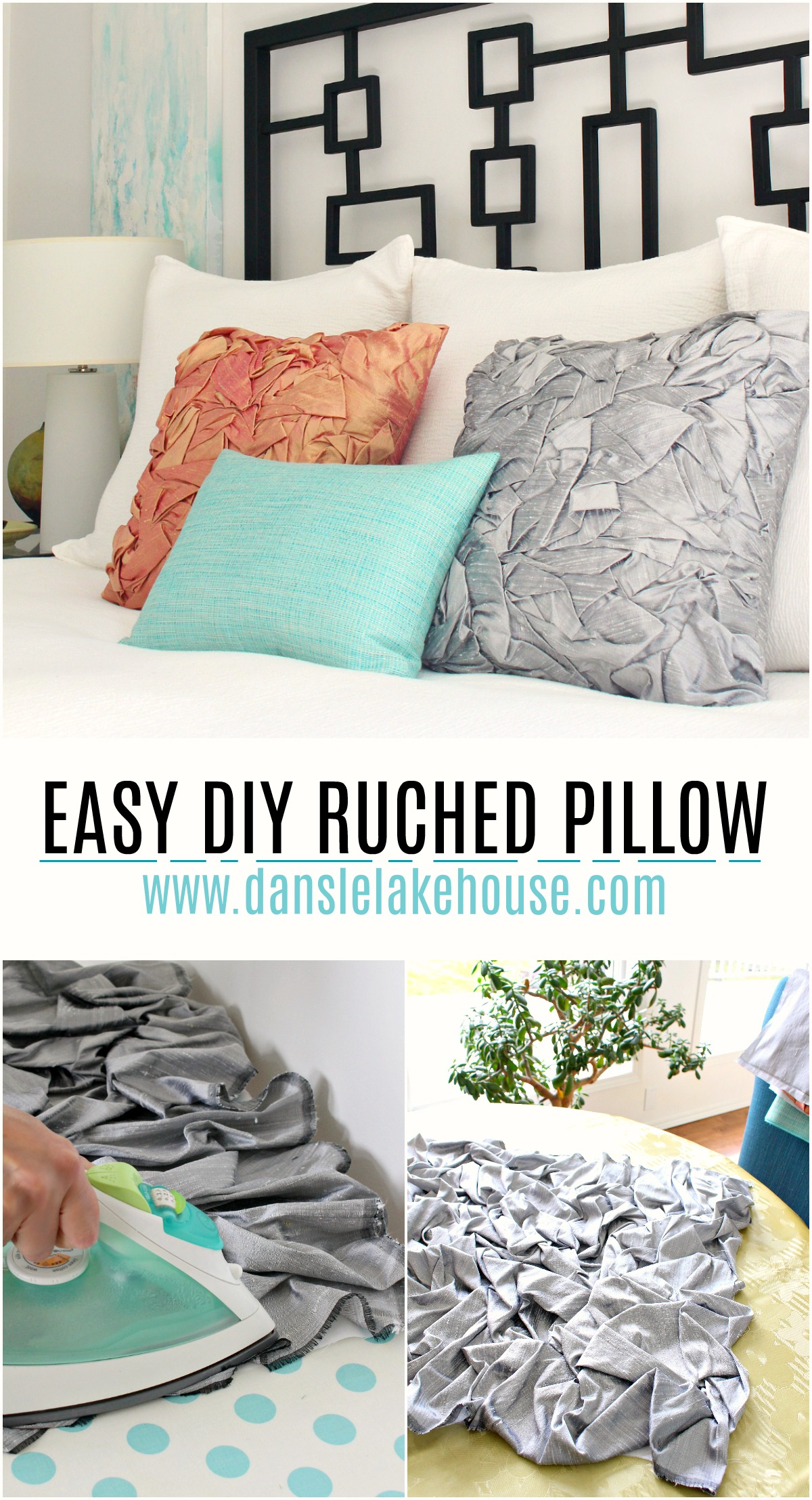 Easy DIY Ruched Pillow