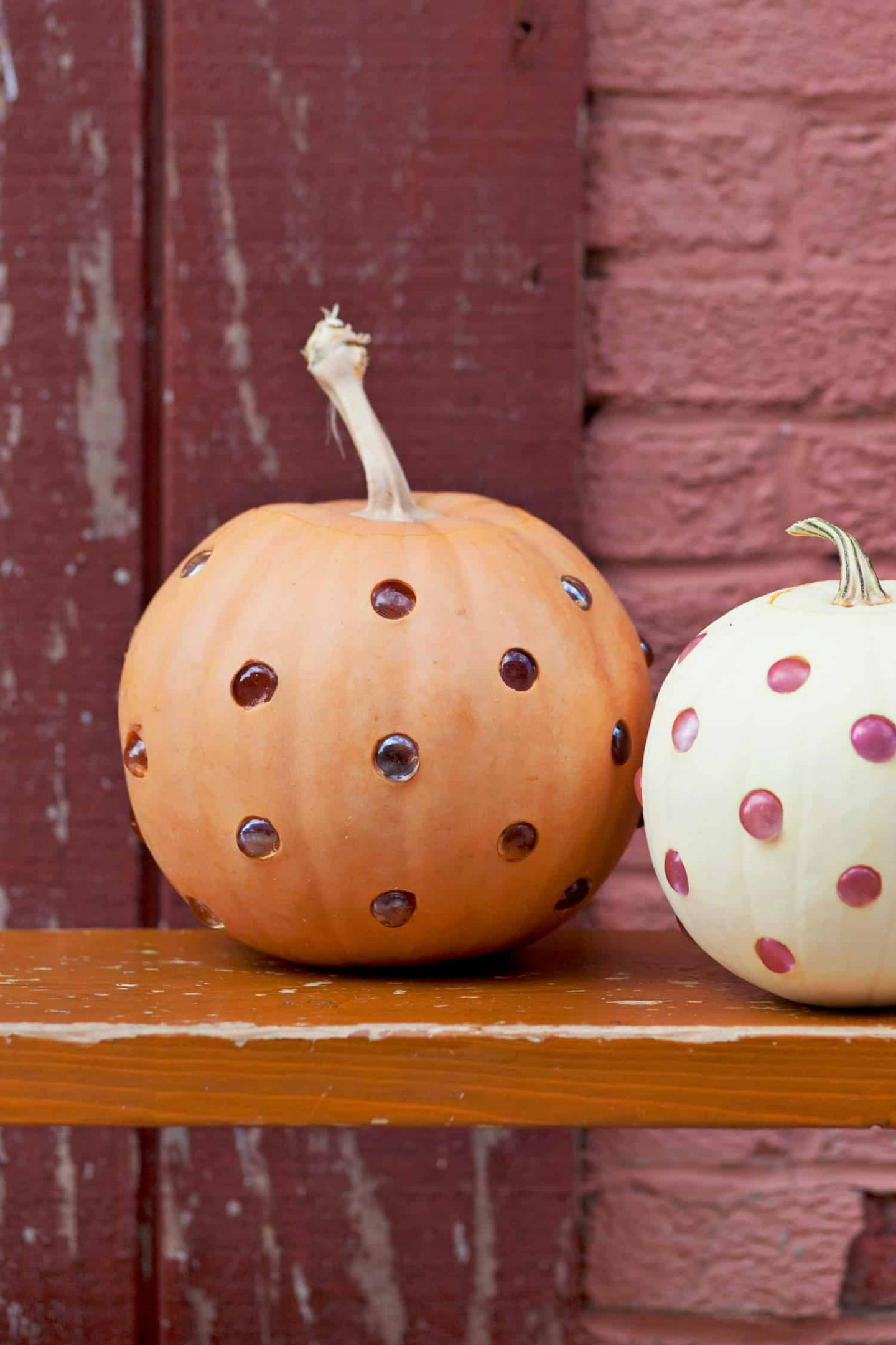 Glass bead pumpkins